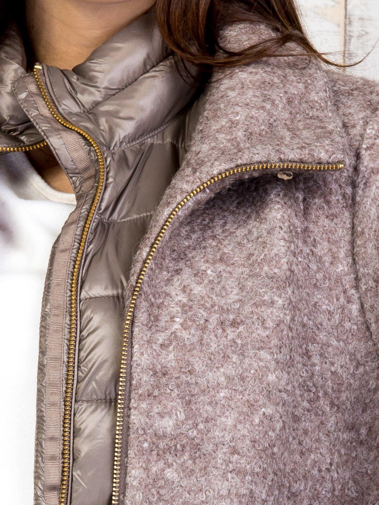 TOM TAILOR Brązowy dwuczęściowy płaszcz z kurtką pikowaną                                  zdj.                                  6