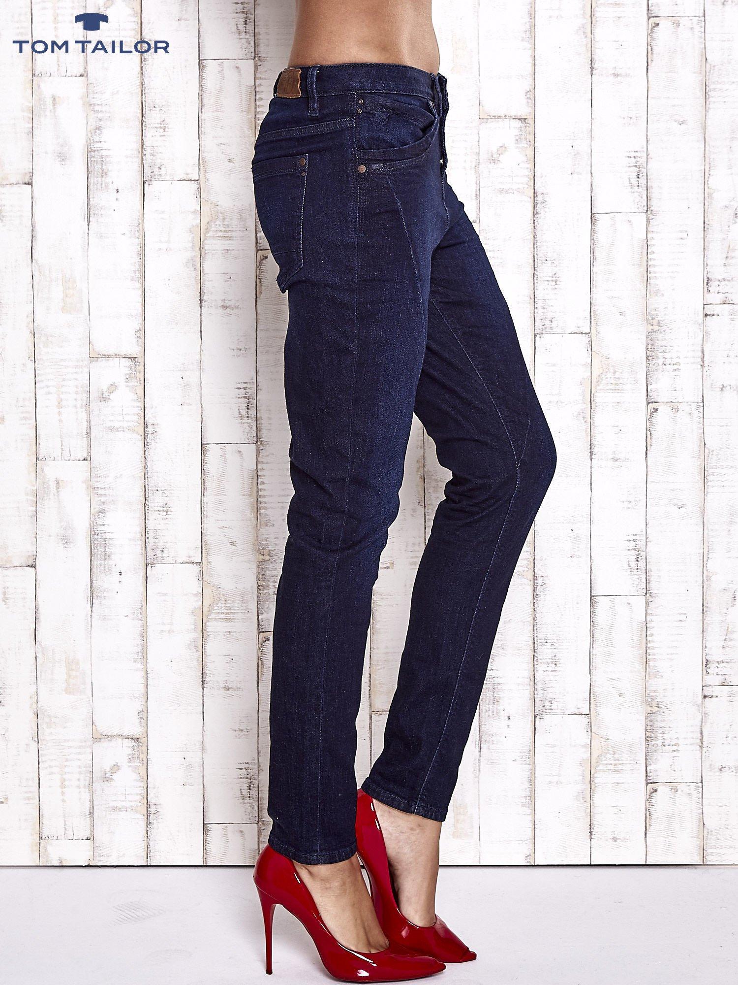 TOM TAILOR Ciemnoniebieskie modułowe spodnie jeansowe                                   zdj.                                  3