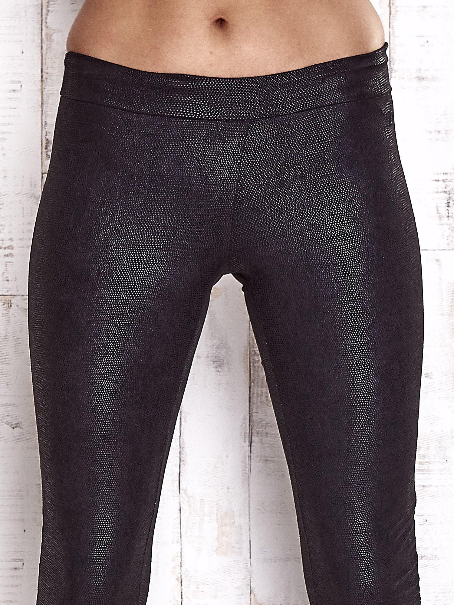 TOM TAILOR Czarne skórzane legginsy                                  zdj.                                  4