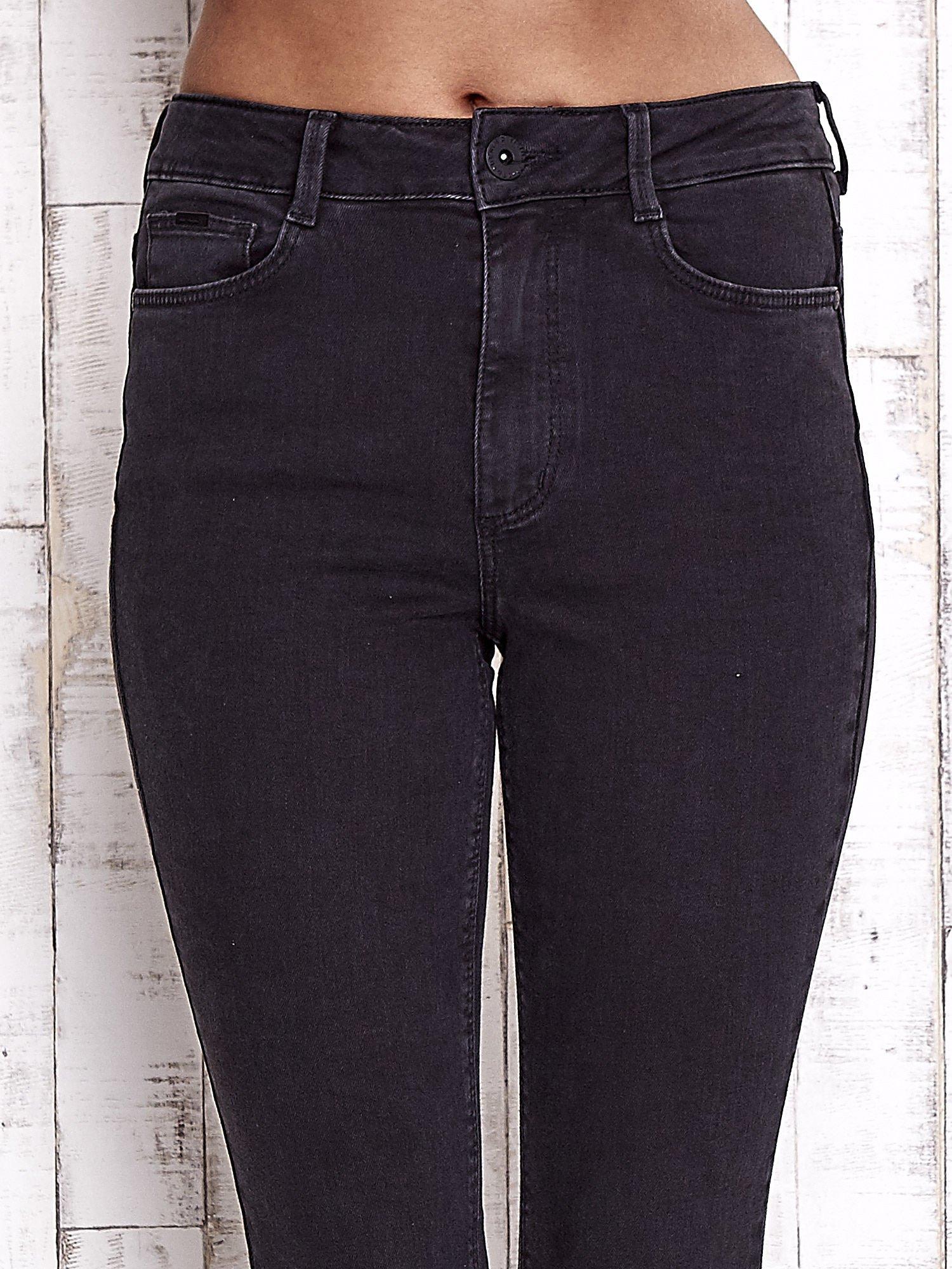 TOM TAILOR Czarne spodnie jeansowe cut out                                  zdj.                                  4
