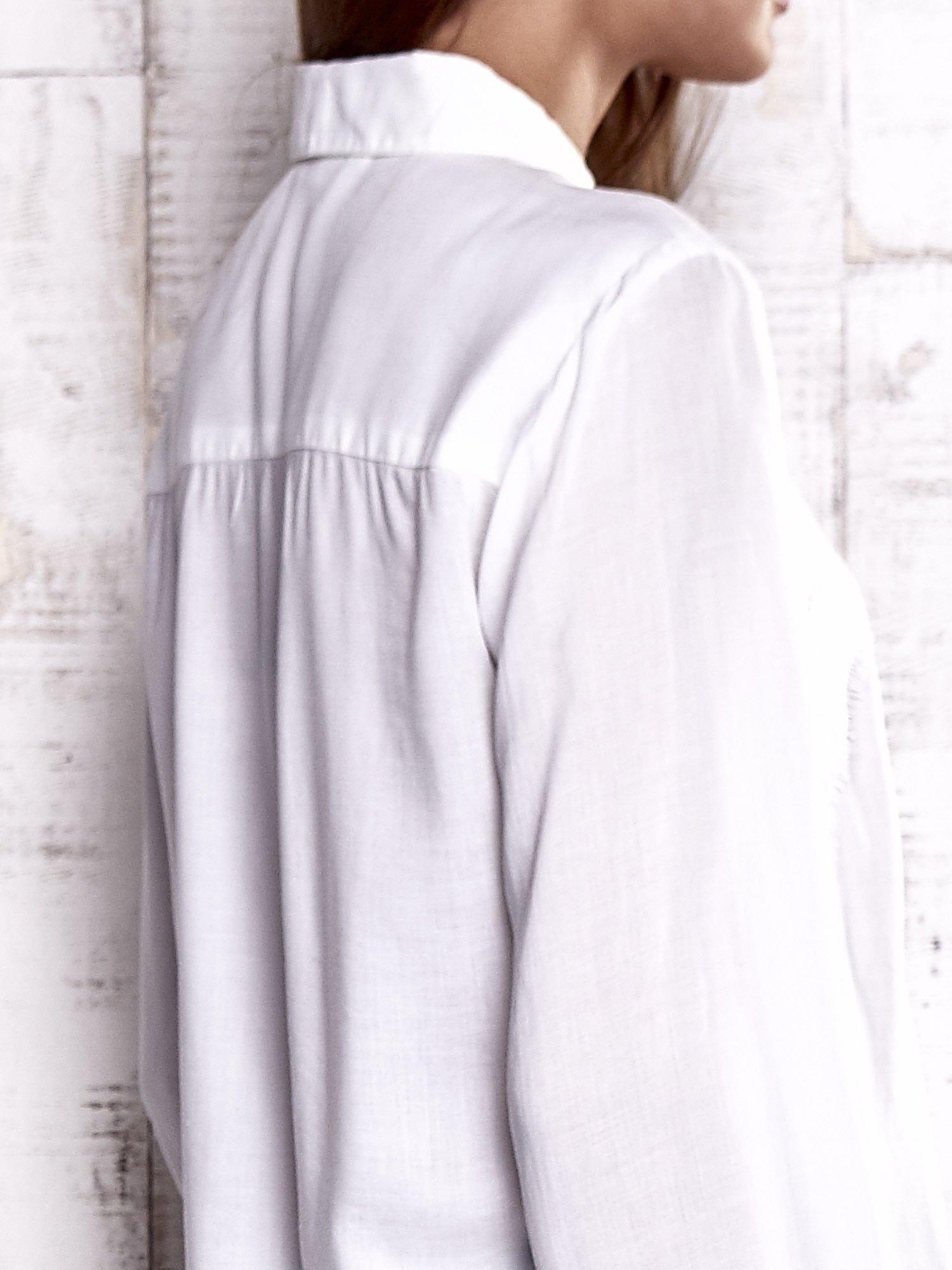 TOM TAILOR Ecru koszula z koronkową wstawką                                  zdj.                                  7