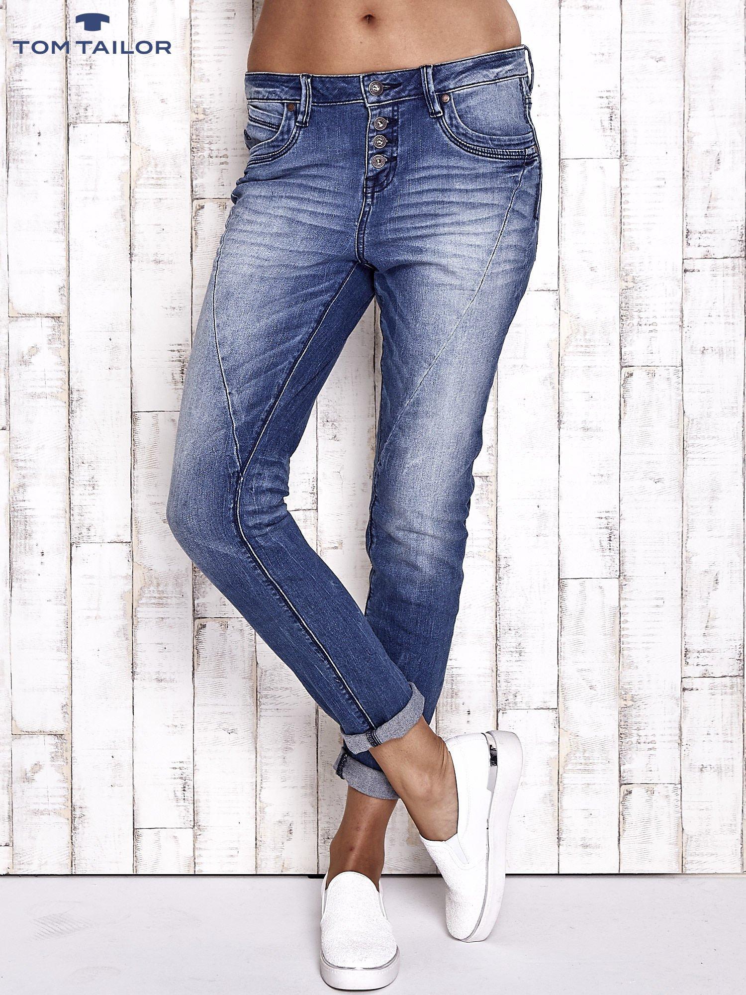 TOM TAILOR Niebieskie modułowe spodnie jeansowe                                  zdj.                                  1