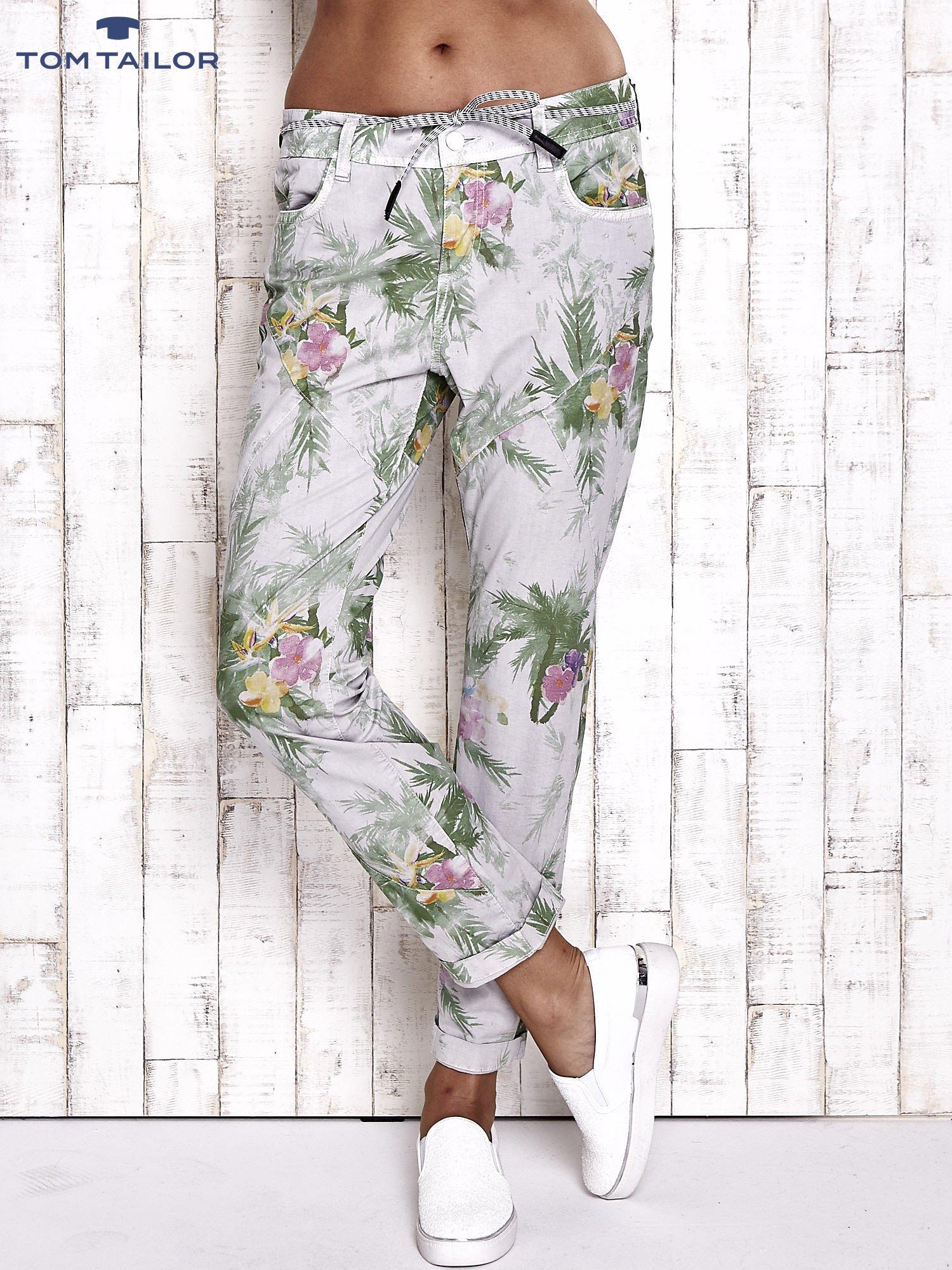 TOM TAILOR Spodnie damskie floral print                                  zdj.                                  1