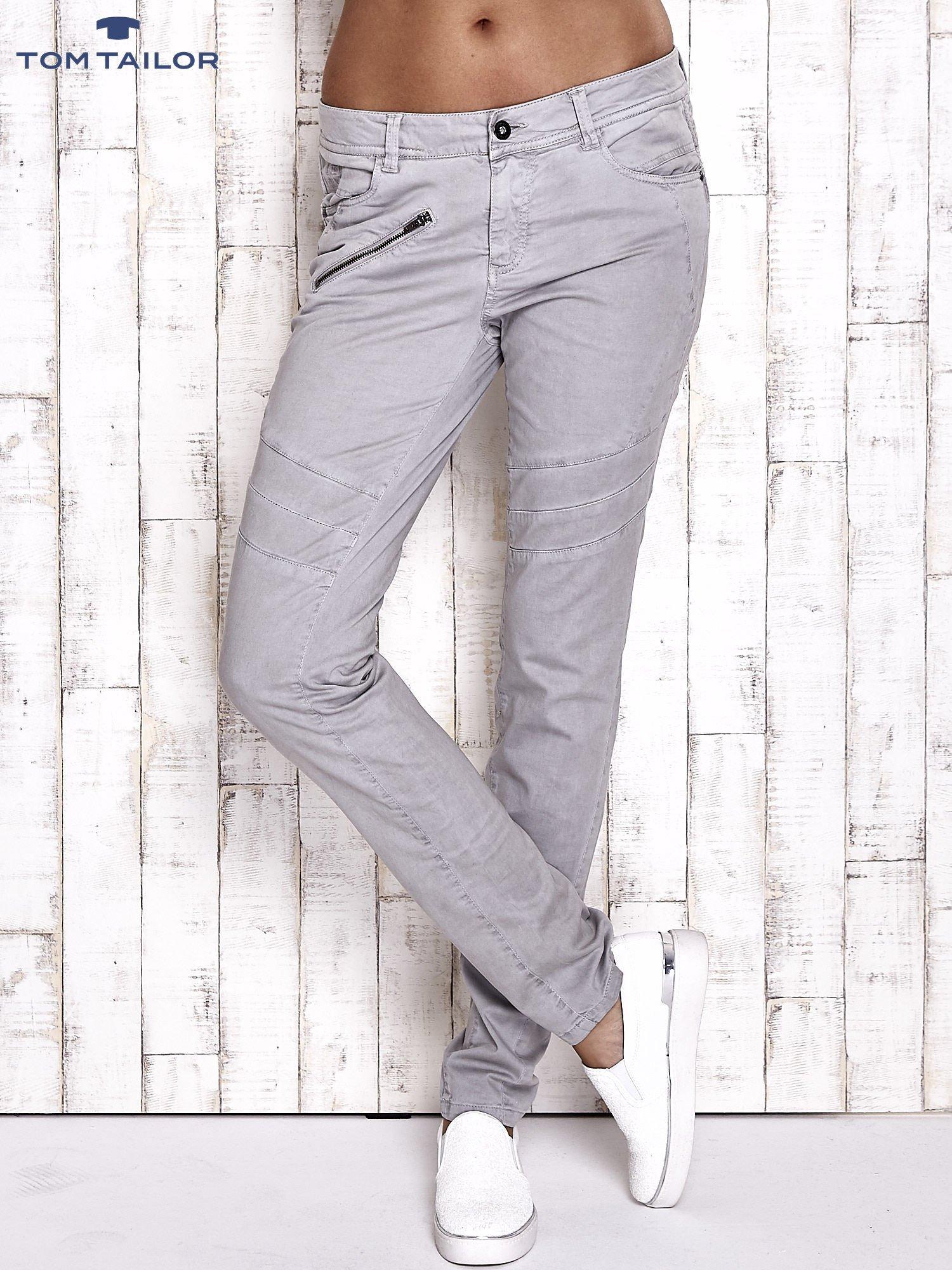 TOM TAILOR Szare materiałowe spodnie                                  zdj.                                  1
