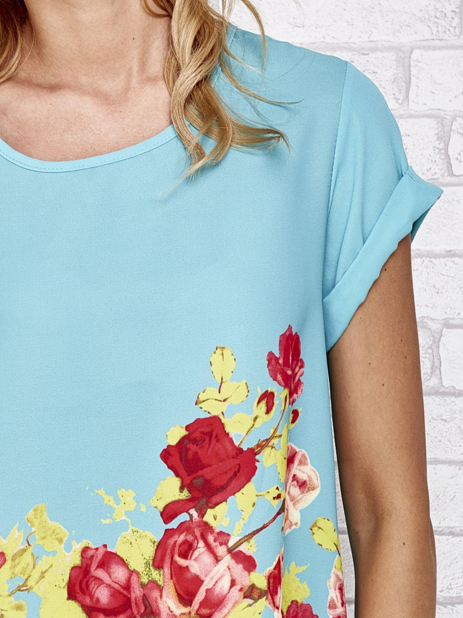 Turkusowa koszula z motywem kwiatów                                  zdj.                                  5