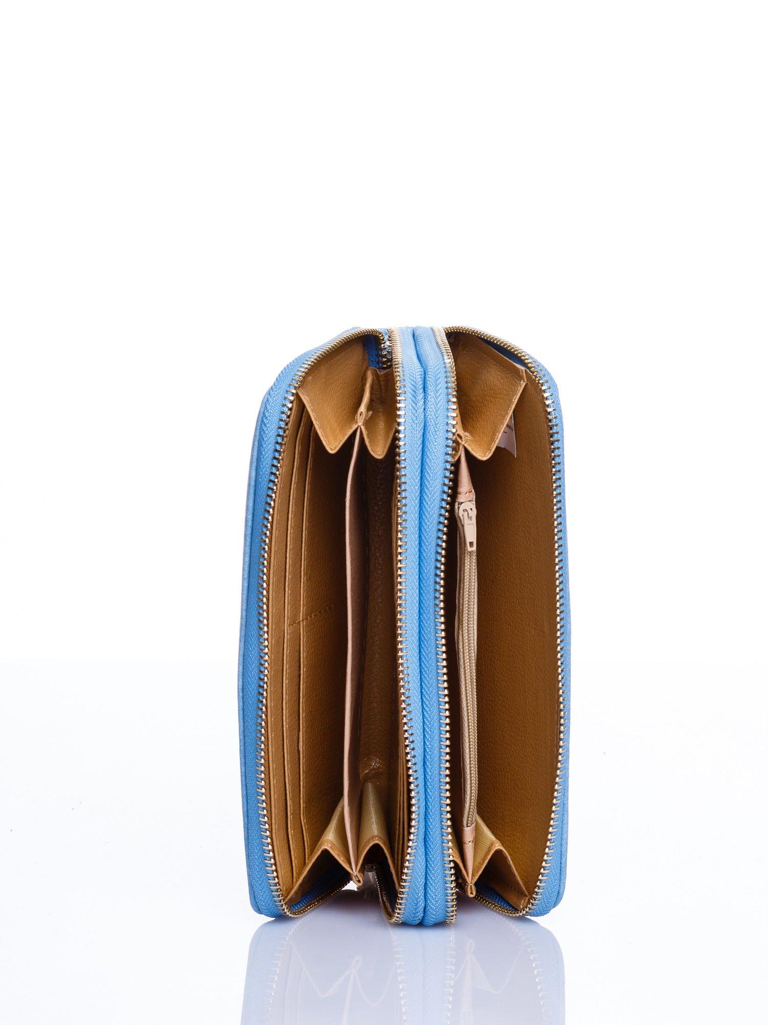 Turkusowy matowy portfel z rączką                                  zdj.                                  3