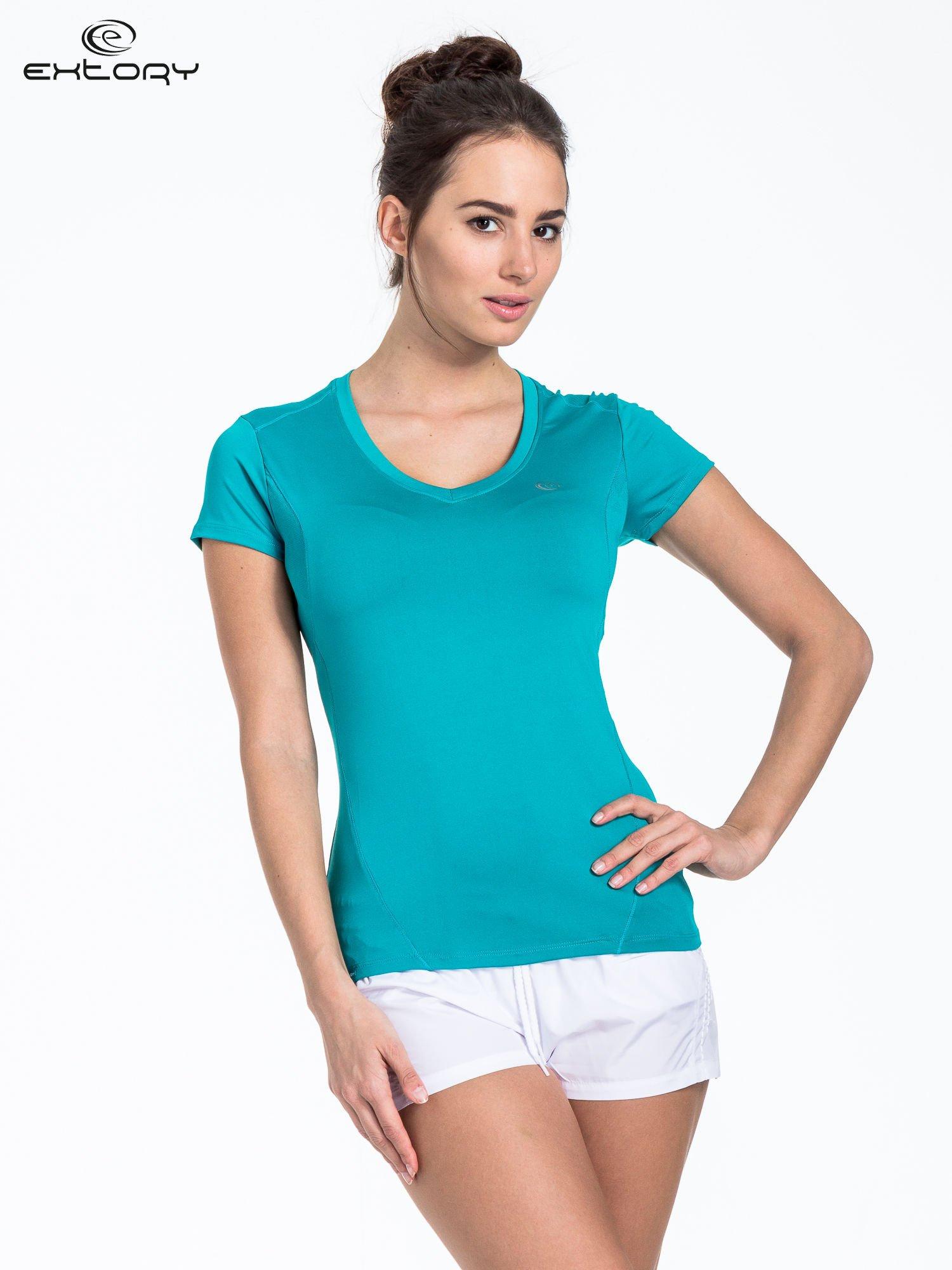 Turkusowy t-shirt sportowy termoaktywny                                  zdj.                                  1