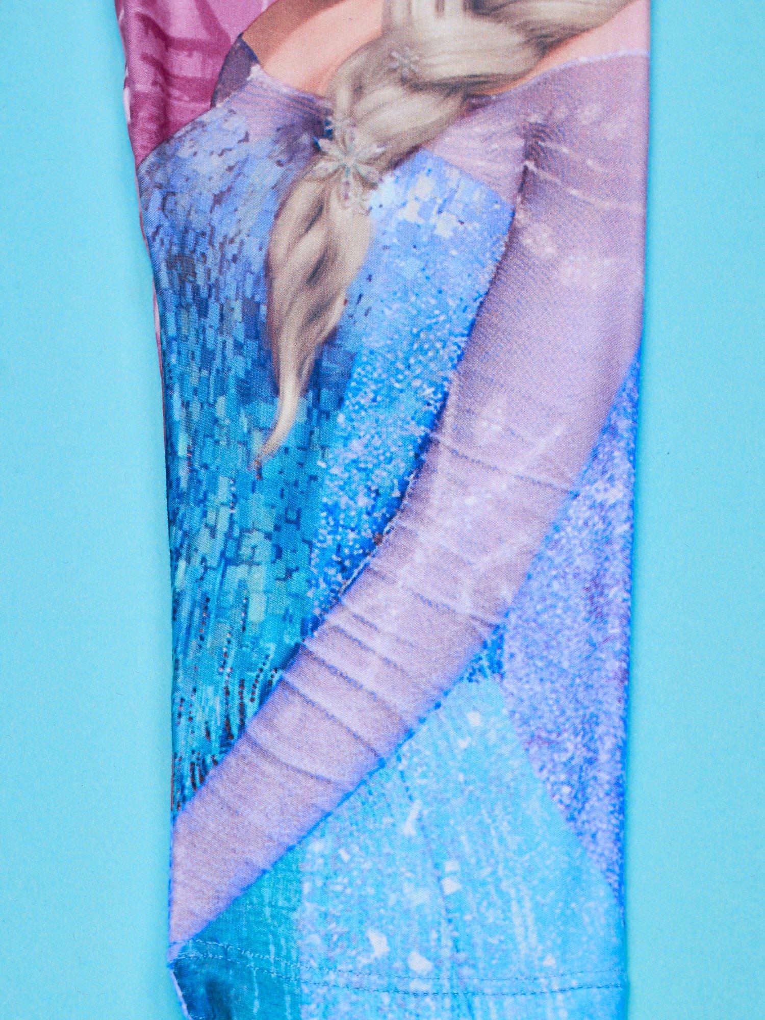 Wielokolorowe legginsy dla dziewczynki KRAINA LODU                                  zdj.                                  4