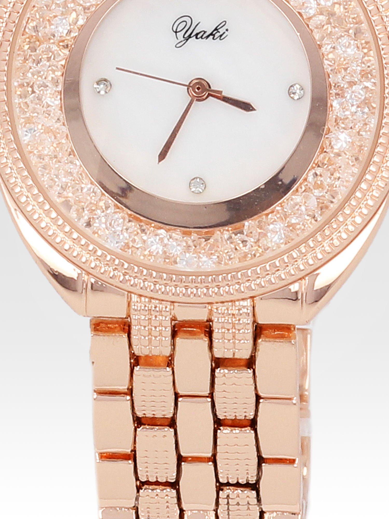 Zegarek damski na bransolecie z różowego złota                                  zdj.                                  5