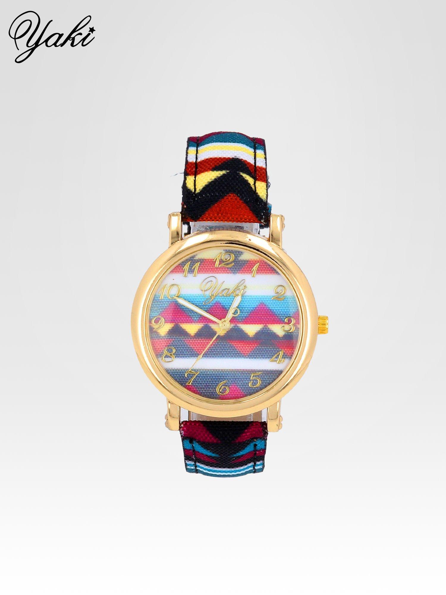 Zegarek damski na pasku z motywem azteckim                                  zdj.                                  1