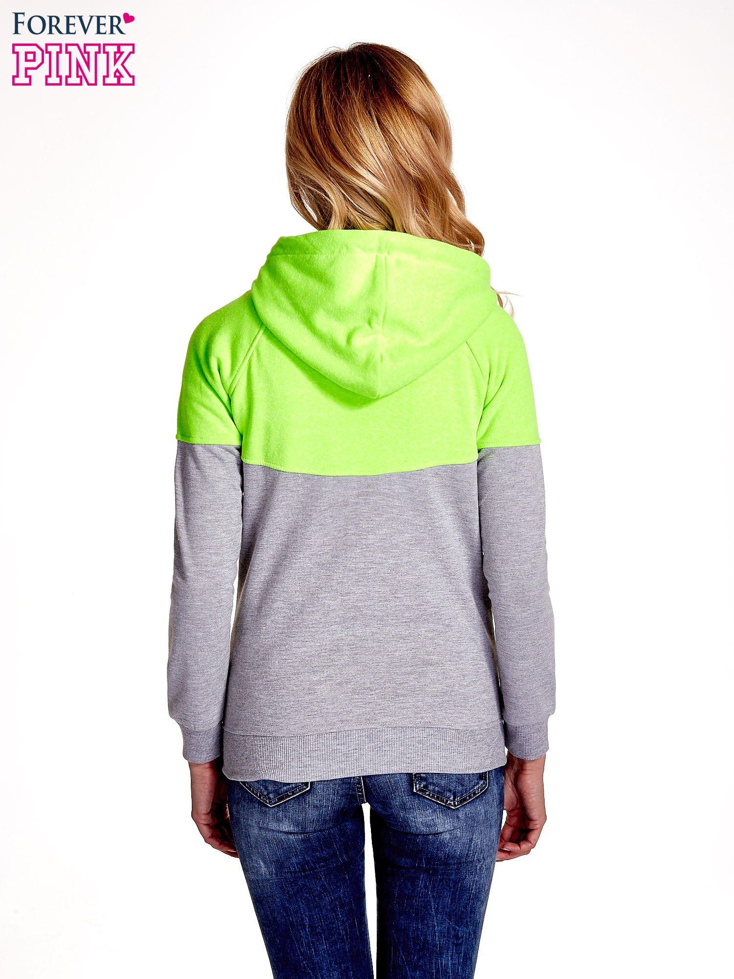 Zielona bluza z szarym pasem                                  zdj.                                  4