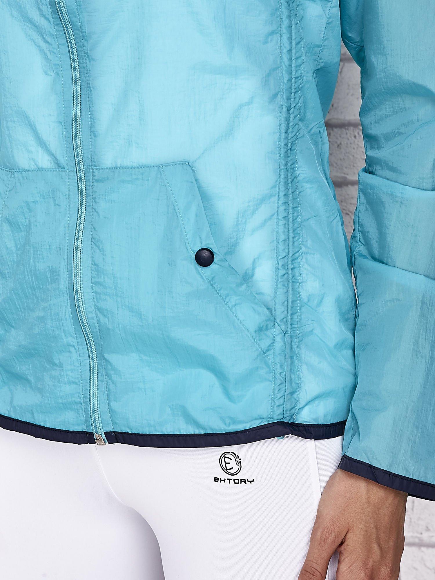 Zielona kurtka wiatrówka z czarnym wykończeniem                                  zdj.                                  8