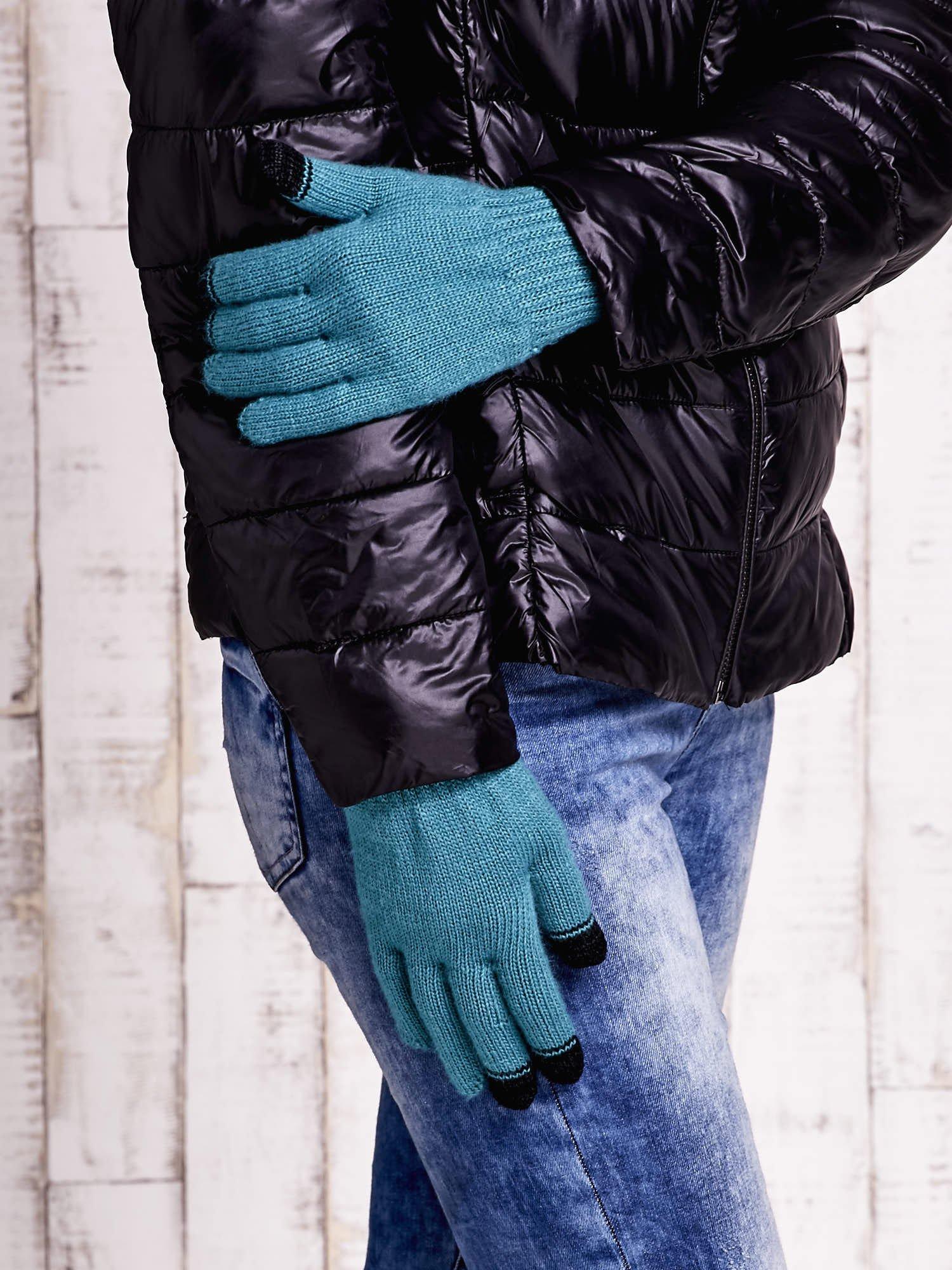Zielone rękawiczki do obsługi ekranów dotykowych                                  zdj.                                  3