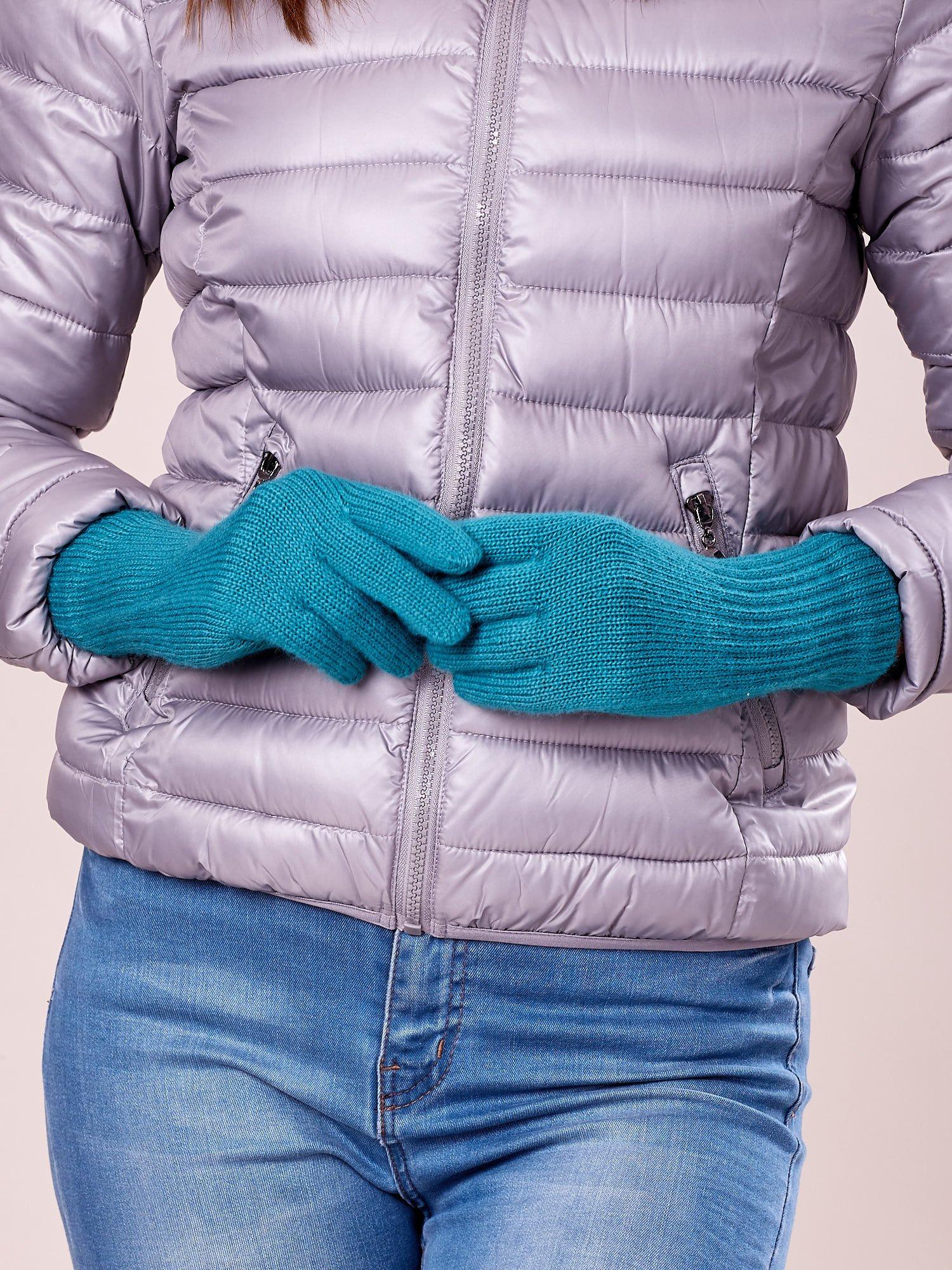Zielone rękawiczki z długim ściągaczem                                  zdj.                                  2