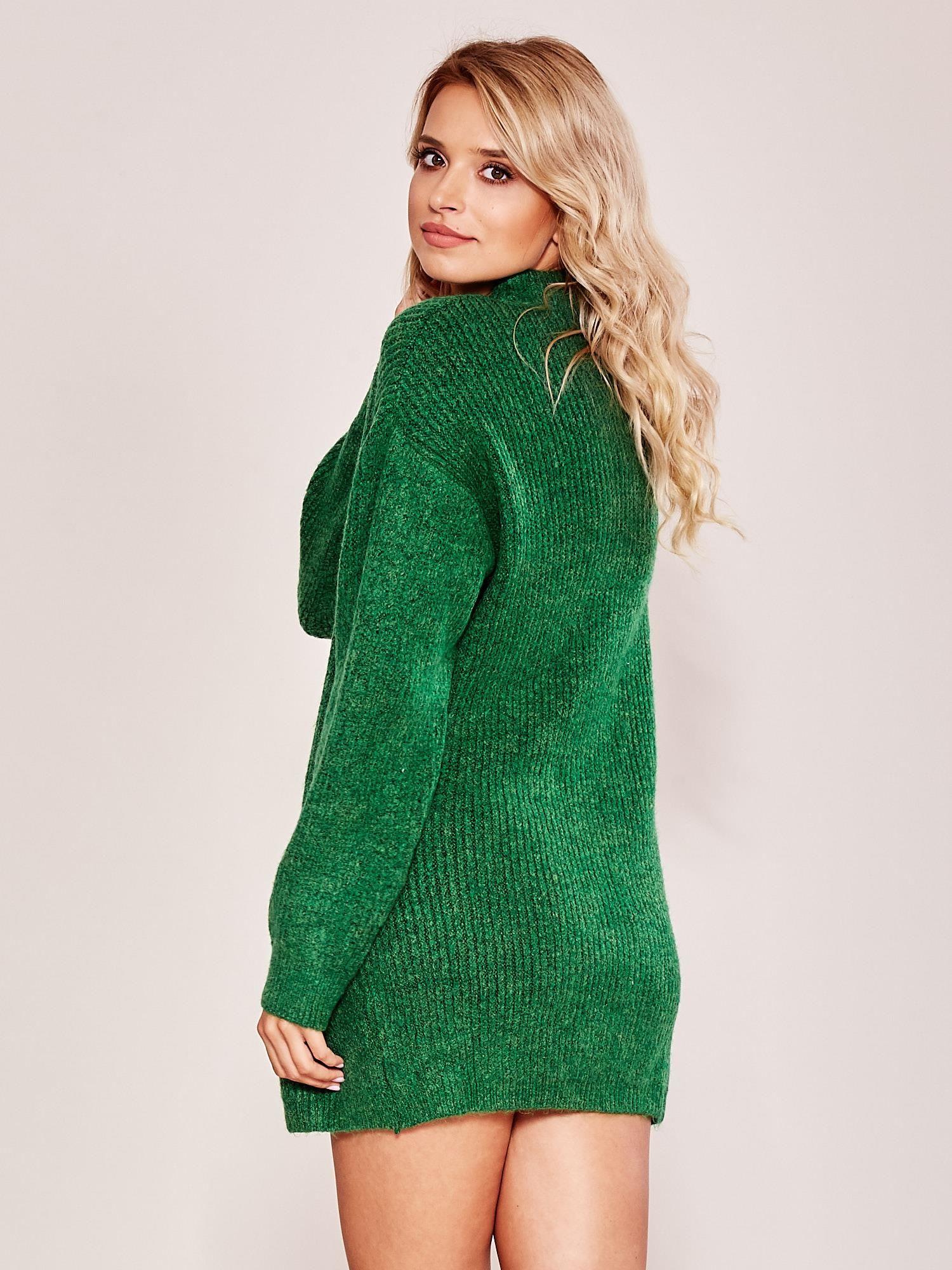 19ee9870 Zielony długi sweter oversize