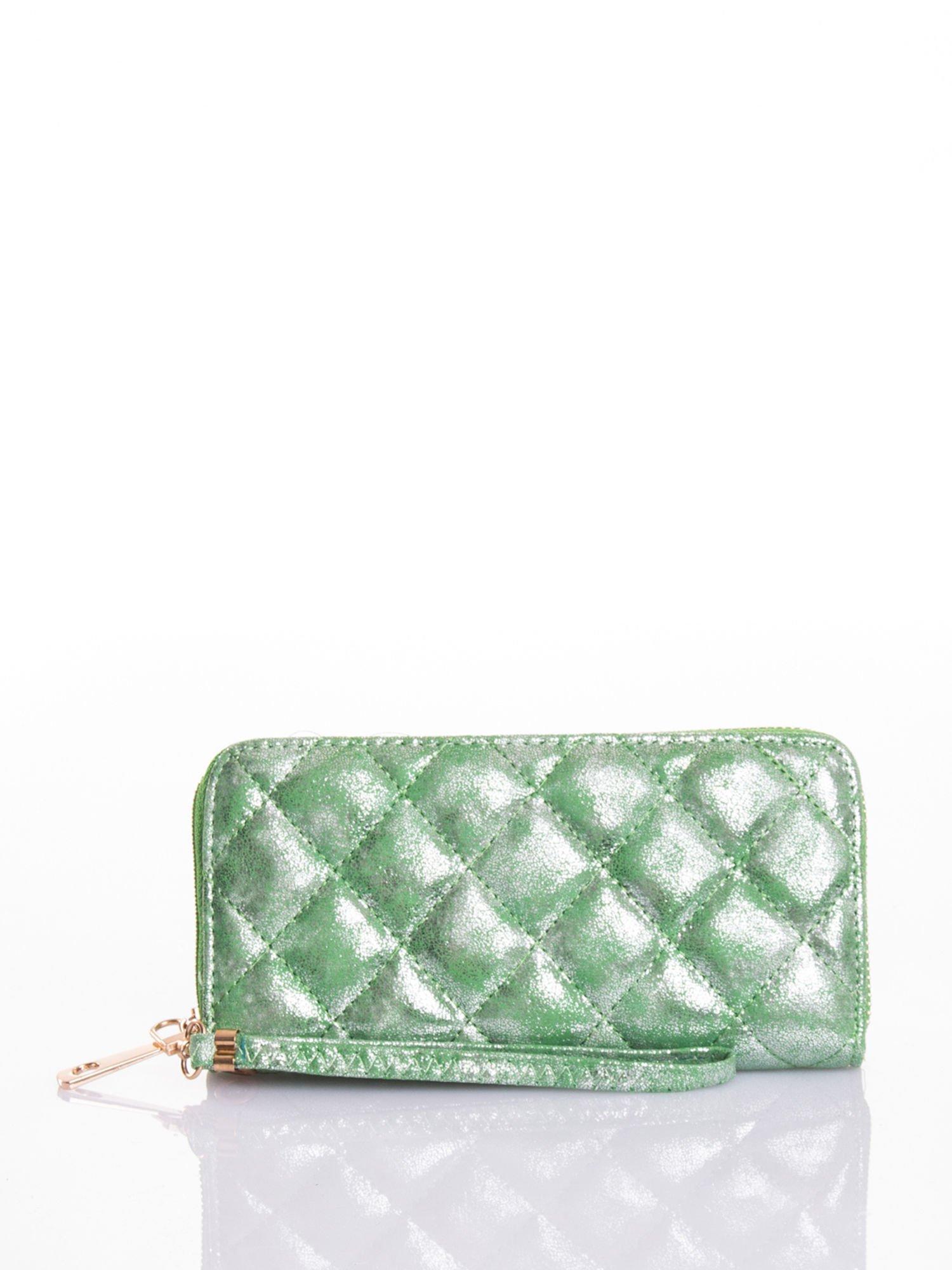 Zielony pikowany portfel                                  zdj.                                  4