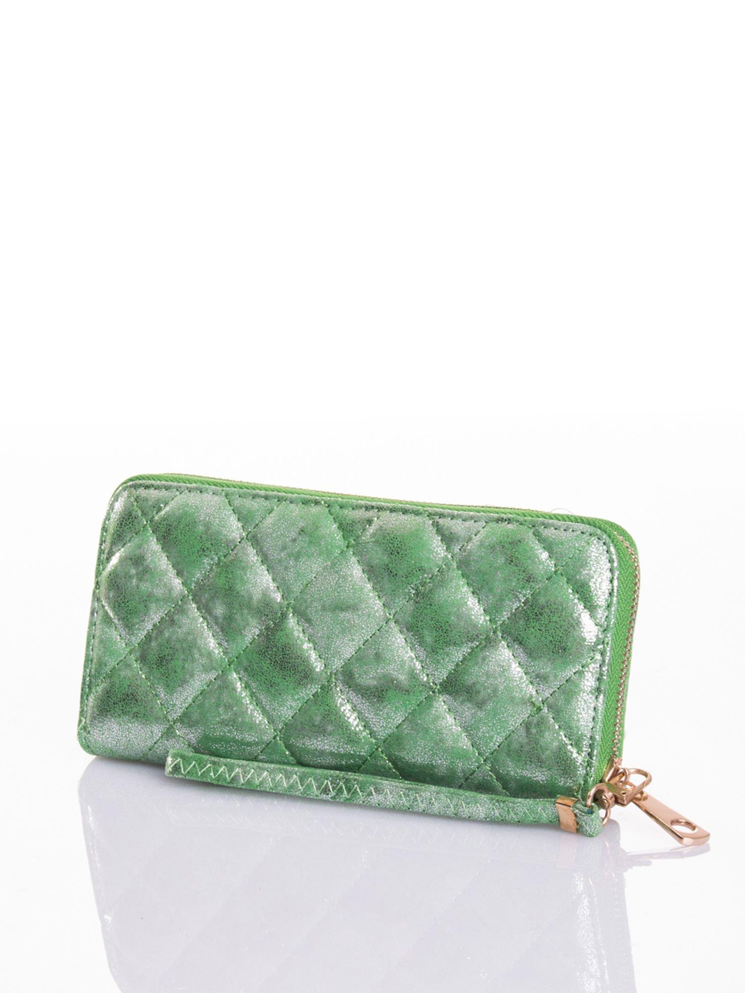 Zielony pikowany portfel                                  zdj.                                  5