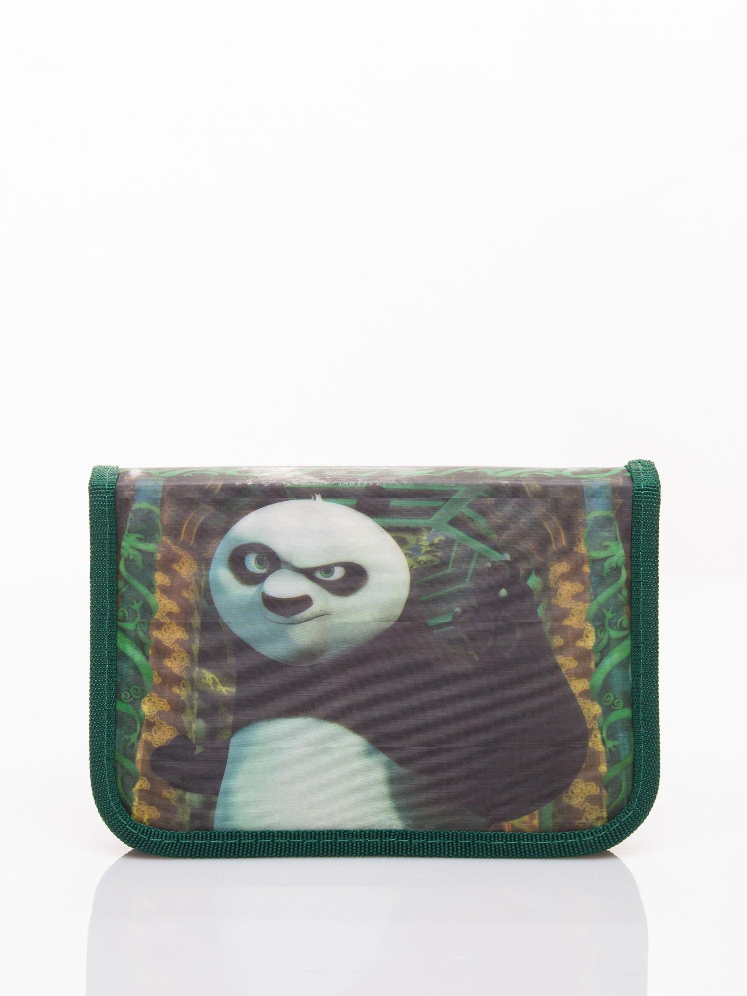 Zielony piórnik szkolny DISNEY Kug Fu Panda Z WYPOSAŻENIEM!                                  zdj.                                  1