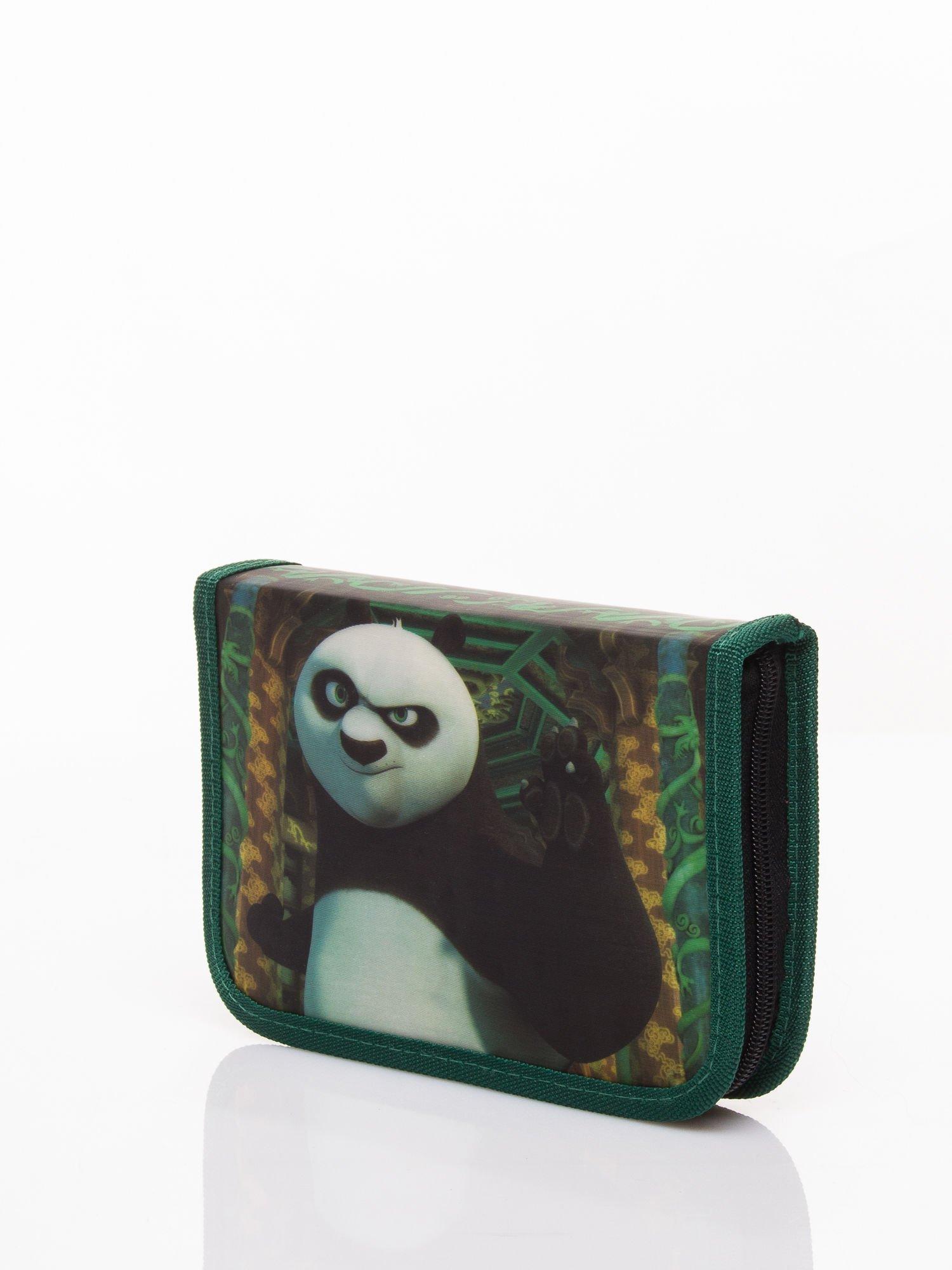 Zielony piórnik szkolny DISNEY Kug Fu Panda Z WYPOSAŻENIEM!                                  zdj.                                  3
