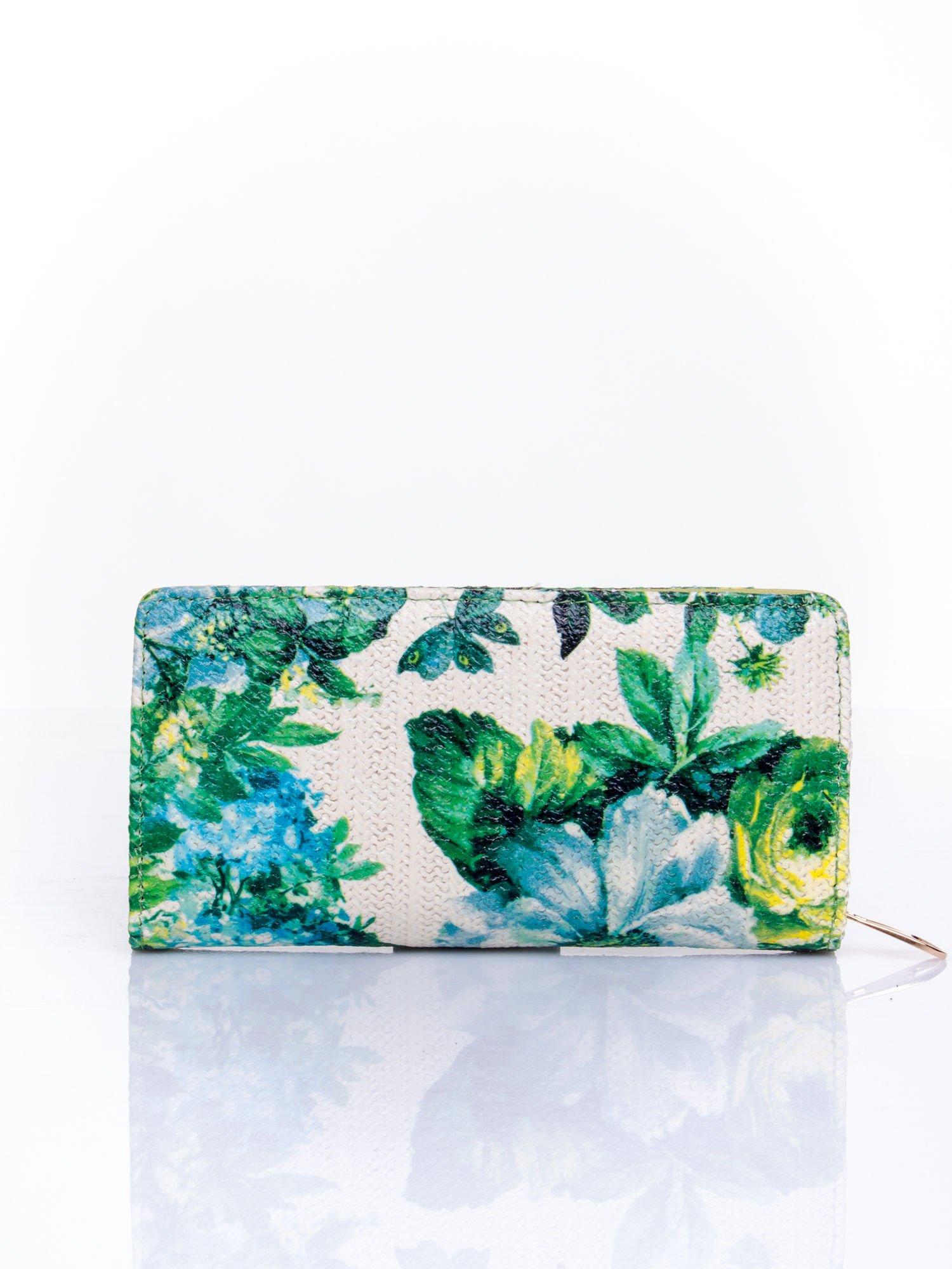 Zielony portfel z egzotycznym nadrukiem                                  zdj.                                  2