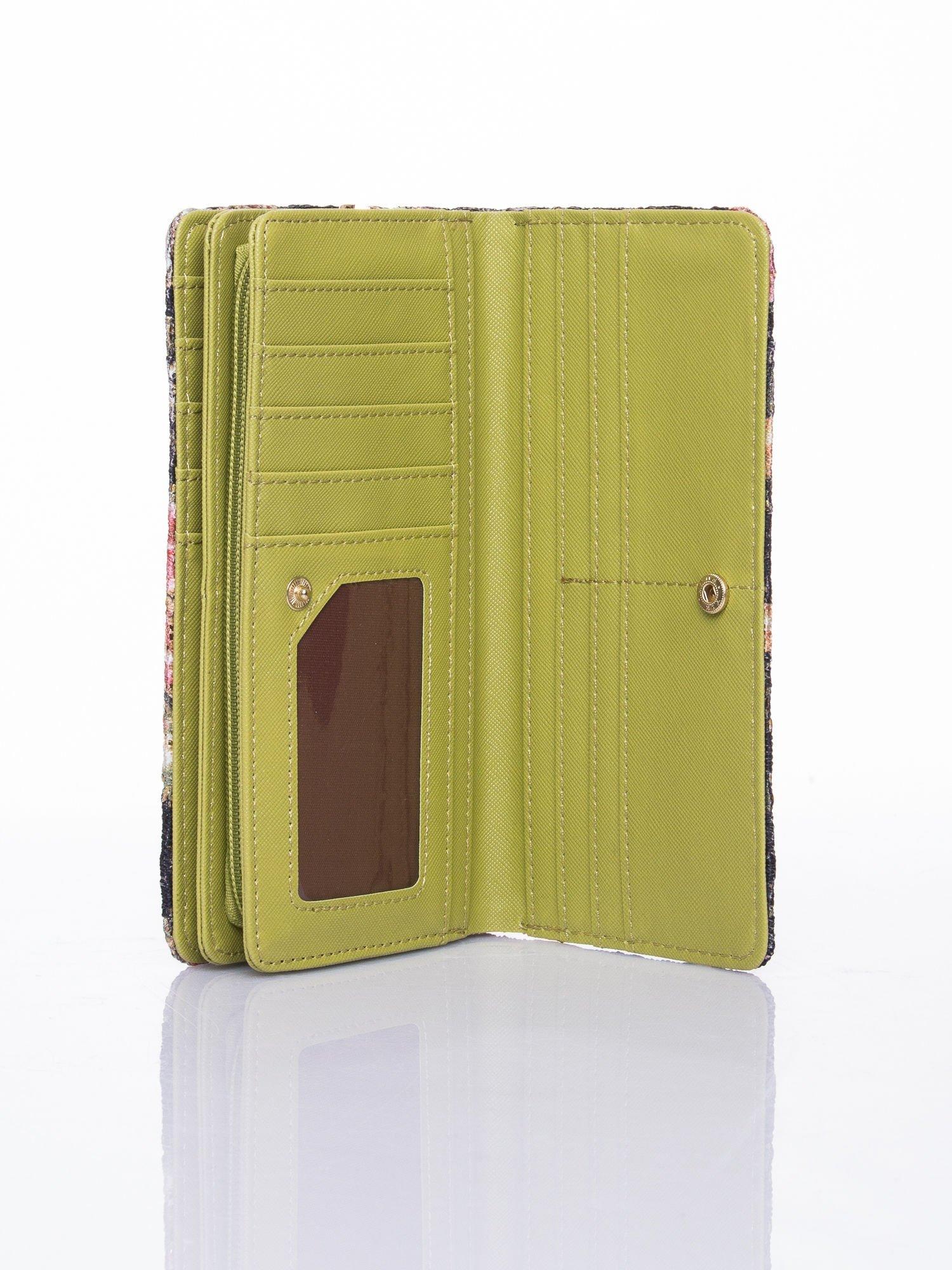 Zielony portfel z nadrukiem paisley                                  zdj.                                  5