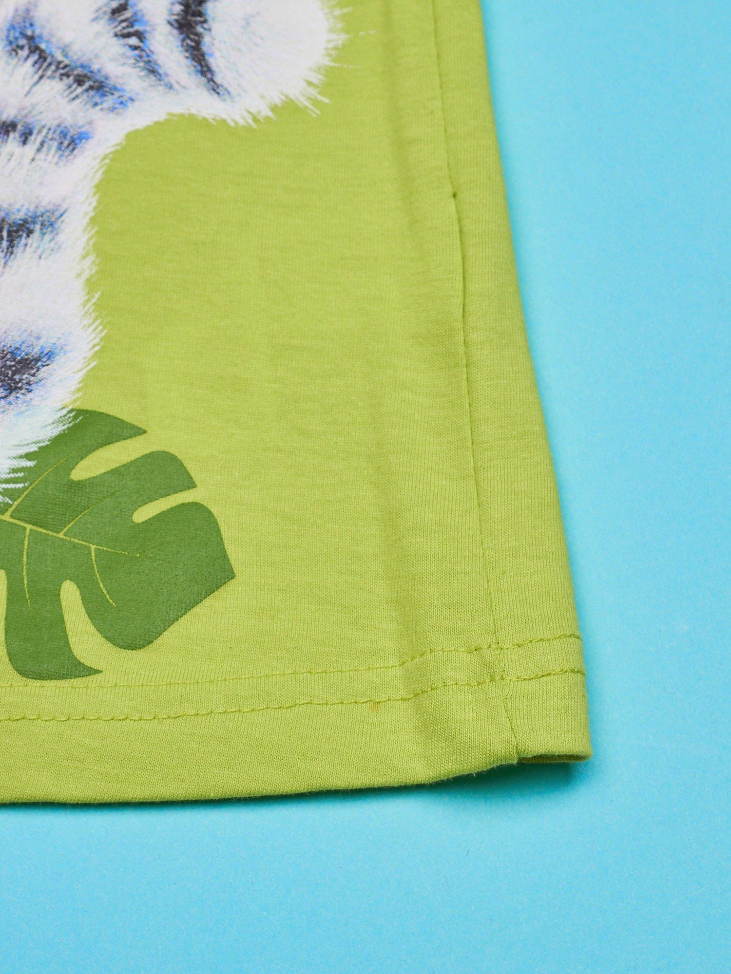 Zielony t-shirt chłopięcy KRÓL JULIAN                                  zdj.                                  5