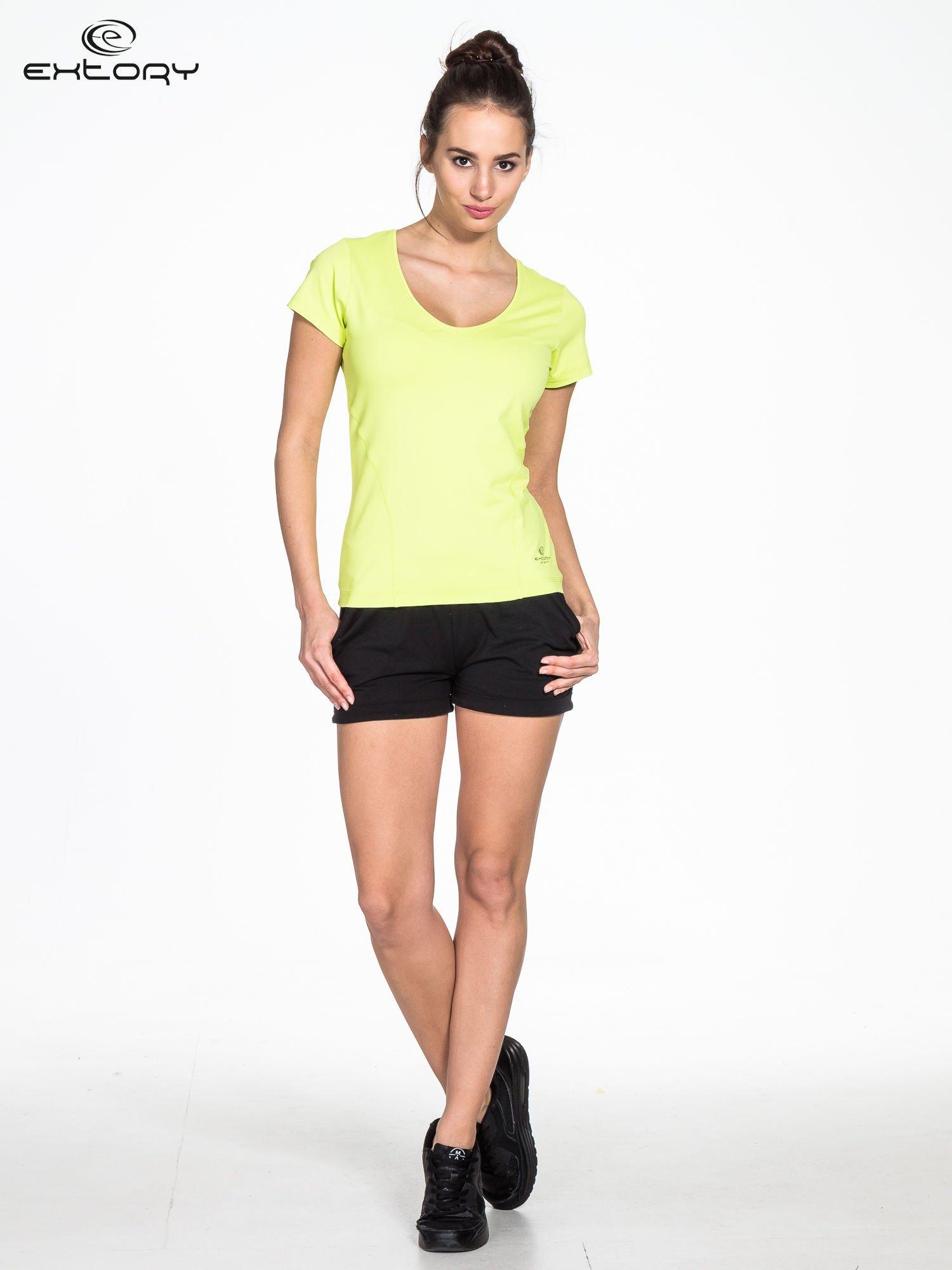 Zielony t-shirt sportowy basic                                  zdj.                                  3