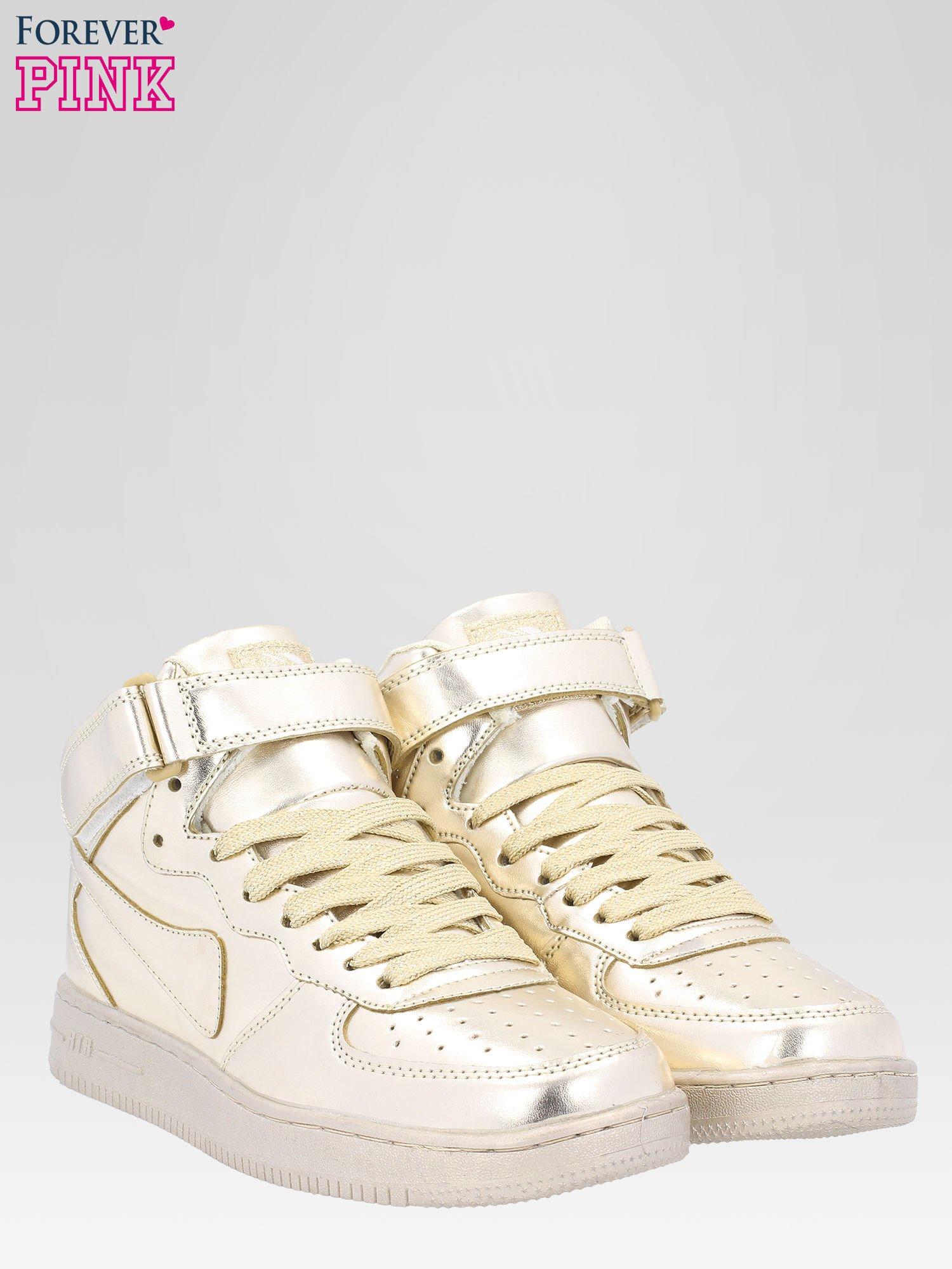 Złote buty sportowe Heather za kostkę na grubej podeszwie                                  zdj.                                  2