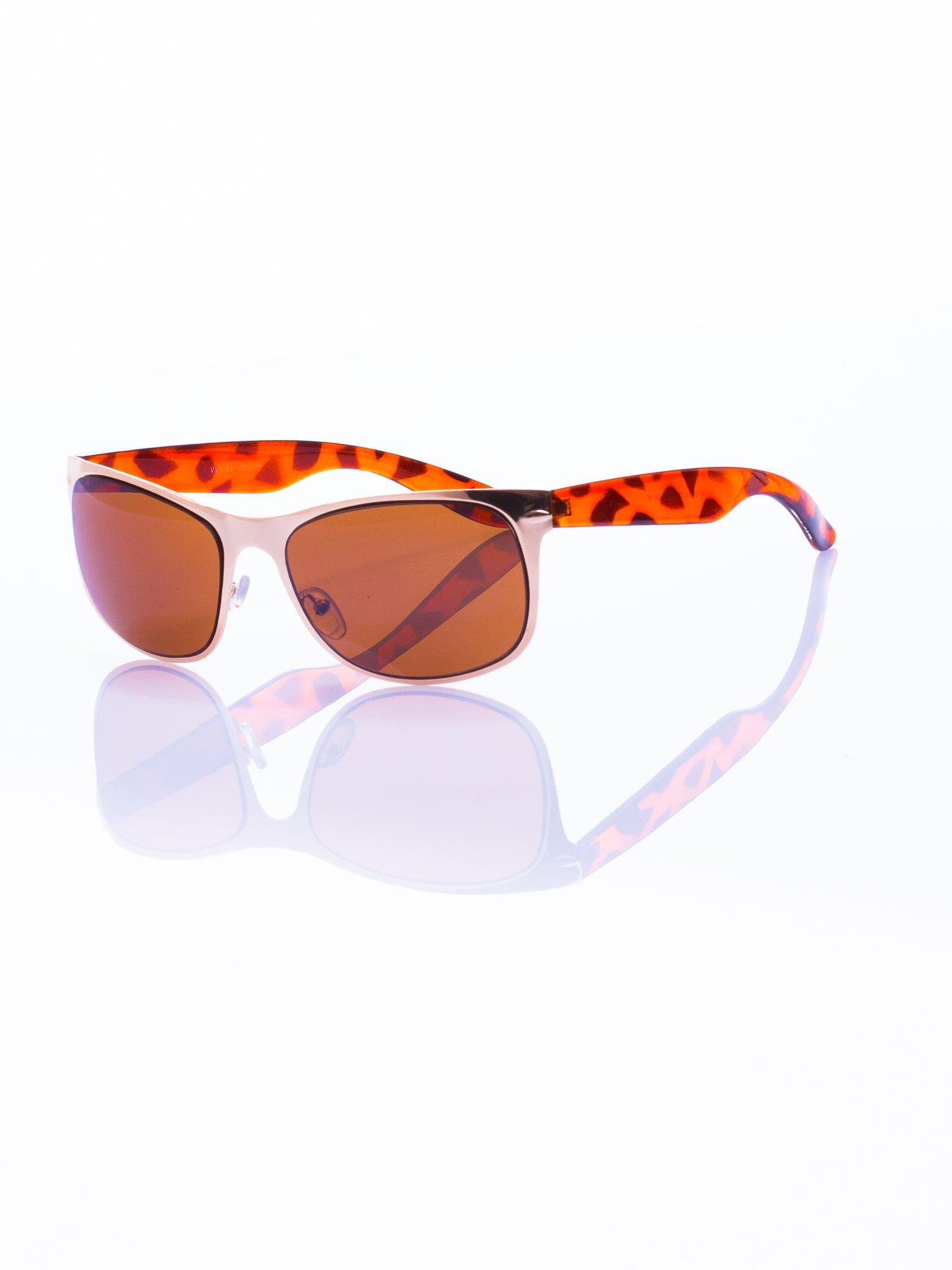Złote okulary przeciwsłoneczne                                   zdj.                                  1