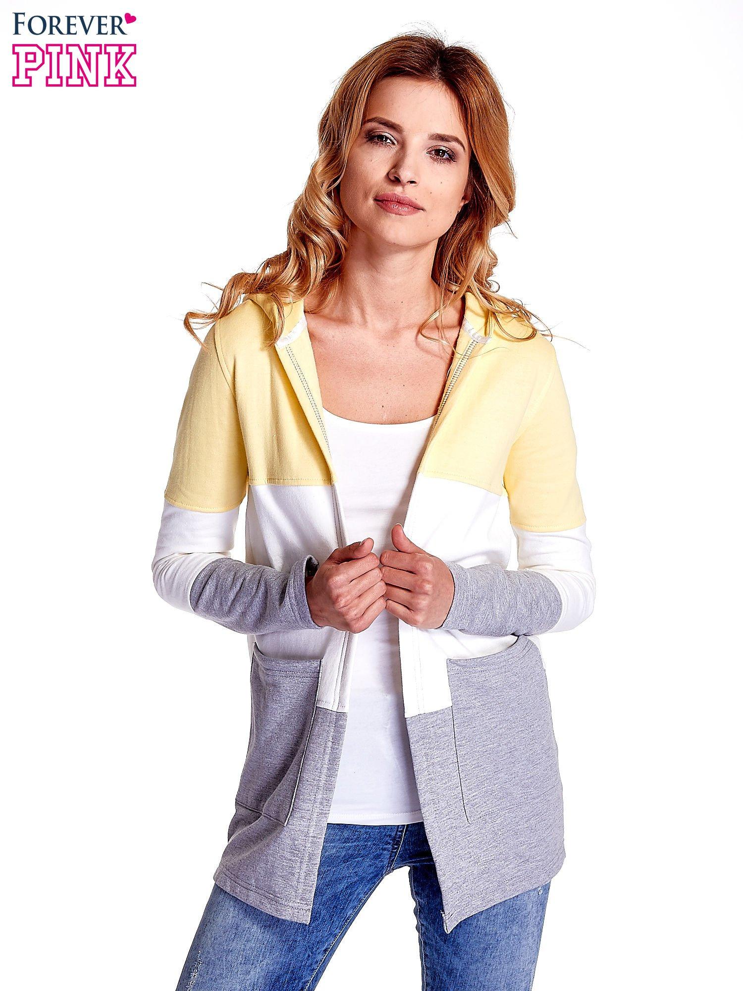 Żółta bluza w szerokie kolorowe pasy                                  zdj.                                  3