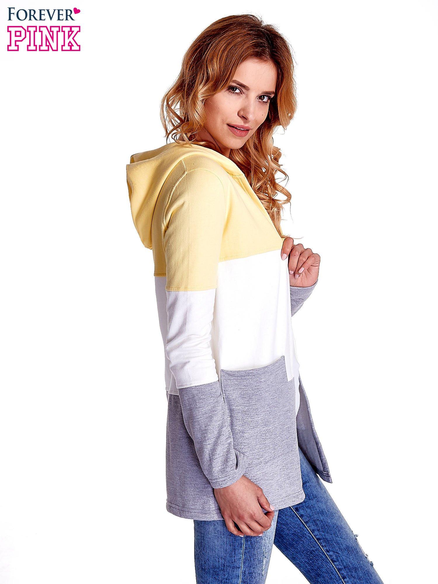 Żółta bluza w szerokie kolorowe pasy                                  zdj.                                  5