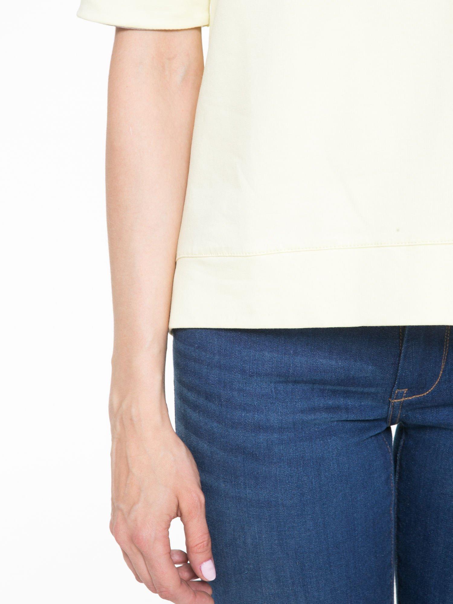 Żółta bluza z suwakiem z tyłu                                  zdj.                                  7