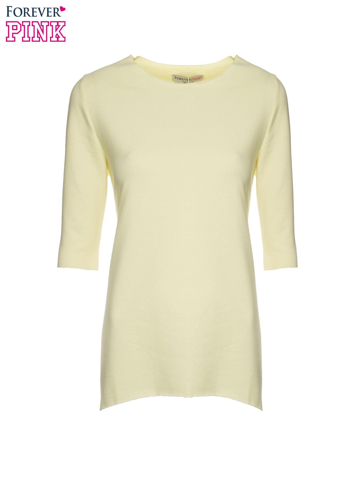 Żółta bluza z wydłużanymi bokami                                  zdj.                                  5
