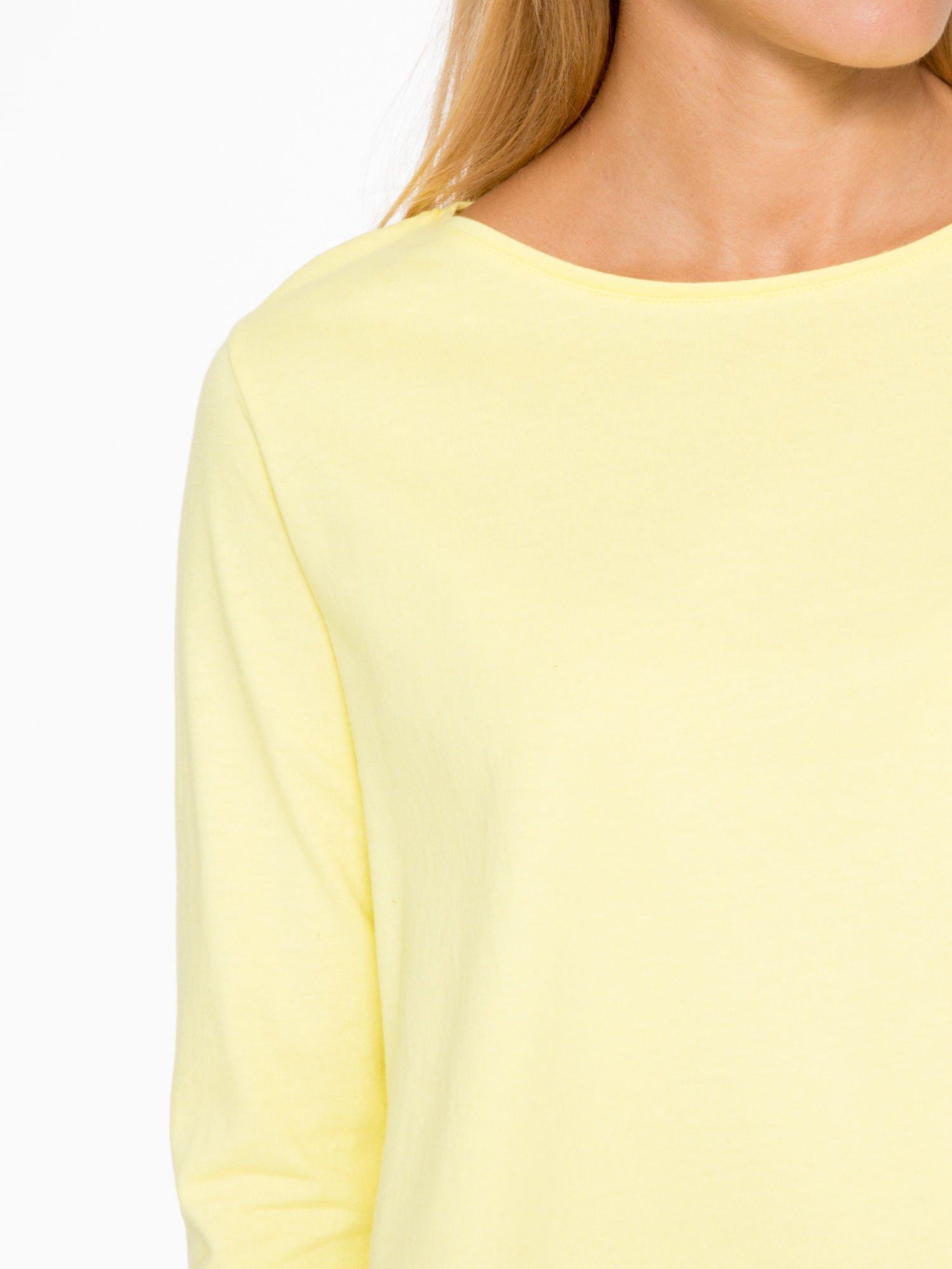 Żółta bluzka o rozkloszowanym kroju z rękawem 3/4                                  zdj.                                  6