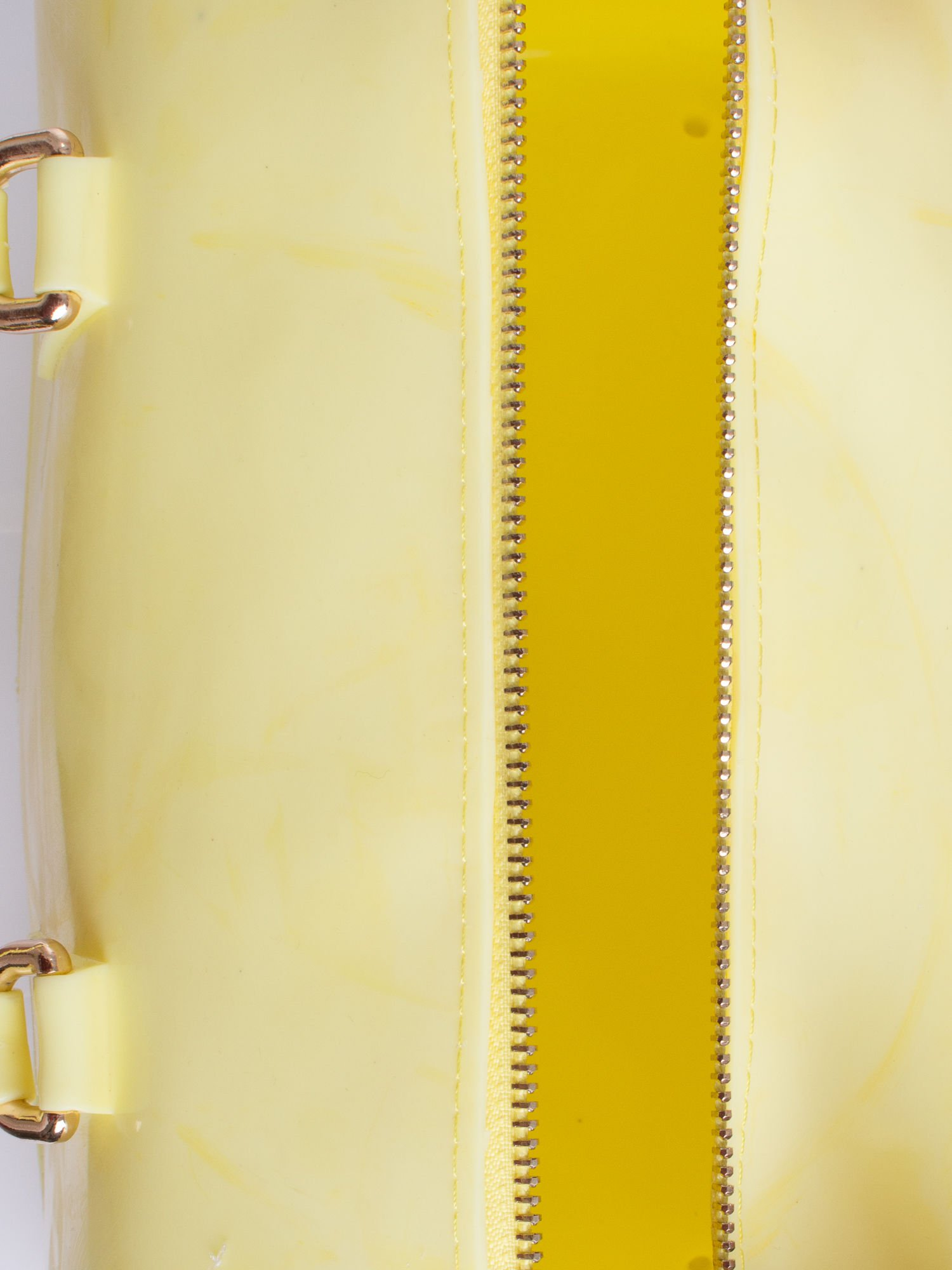 Żółta lakierowana torba kuferek bowling                                  zdj.                                  3