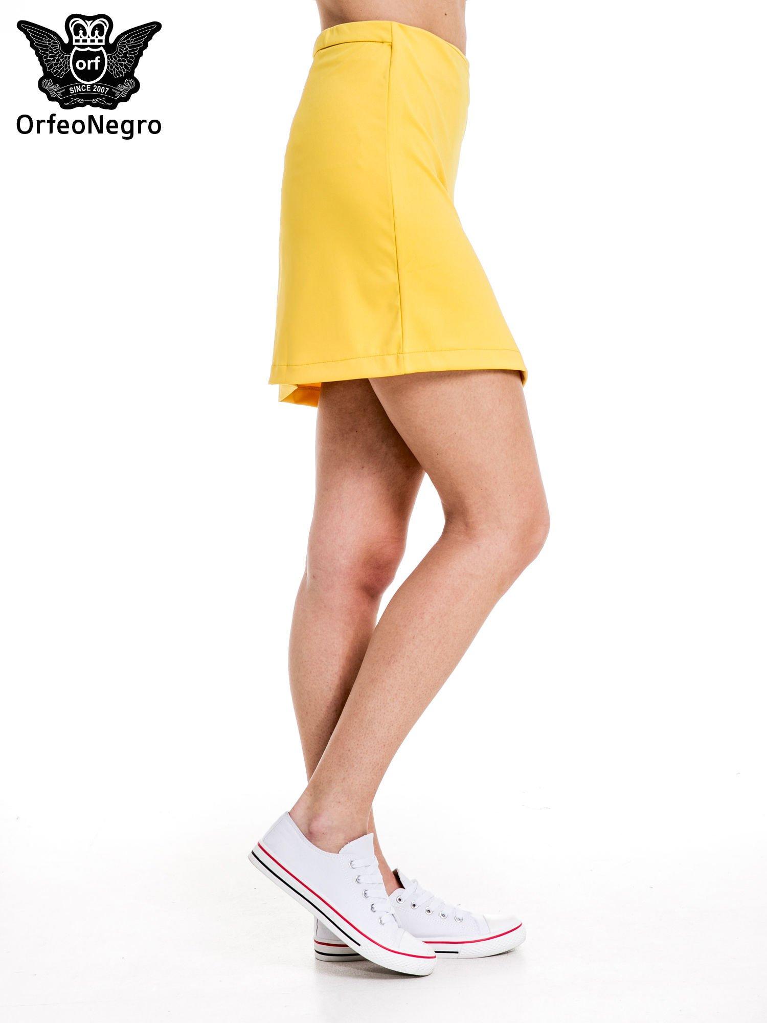 Żółta minispódnica z asymetrycznym suwakiem                                  zdj.                                  3