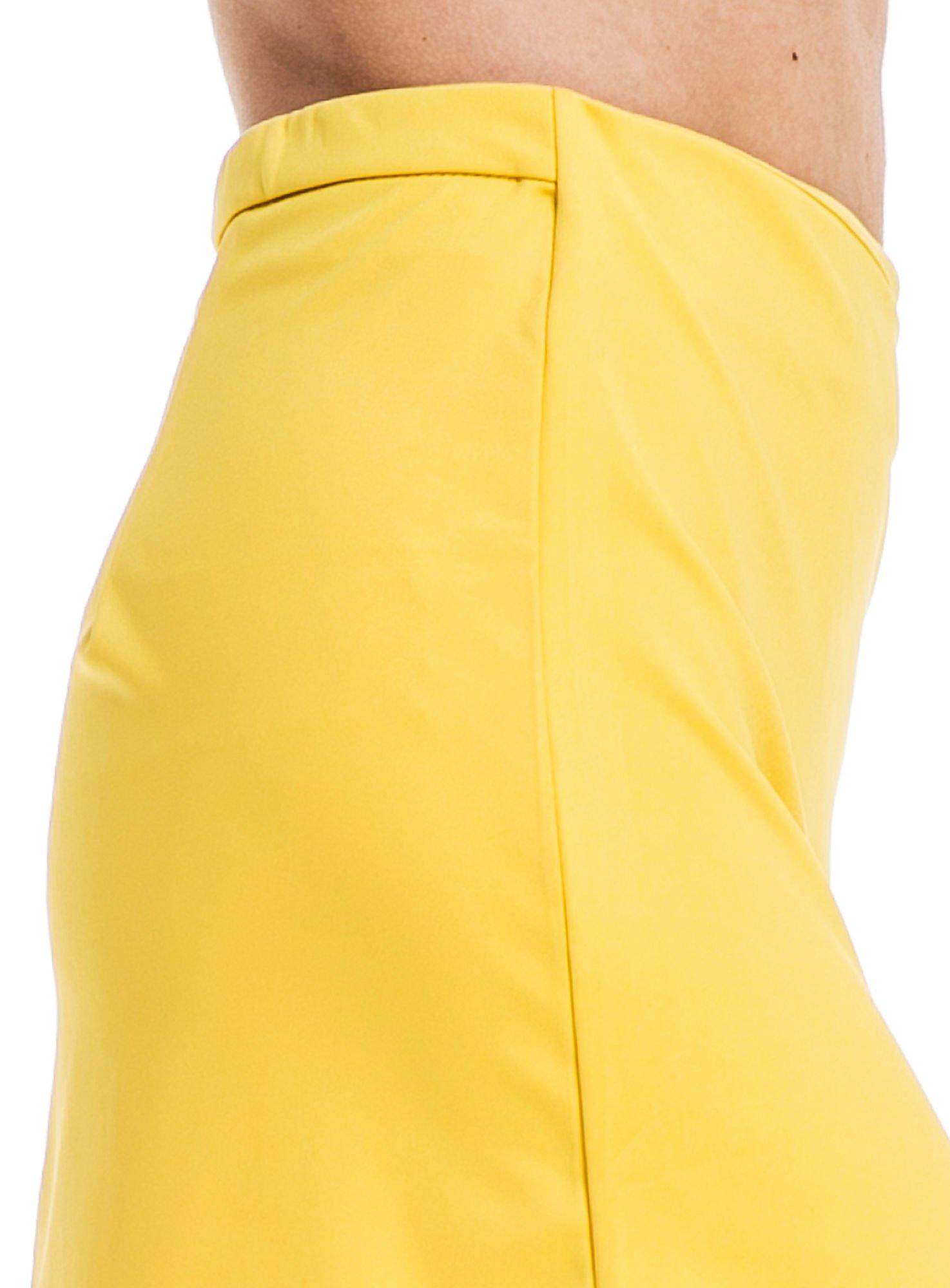 Żółta minispódnica z asymetrycznym suwakiem                                  zdj.                                  5