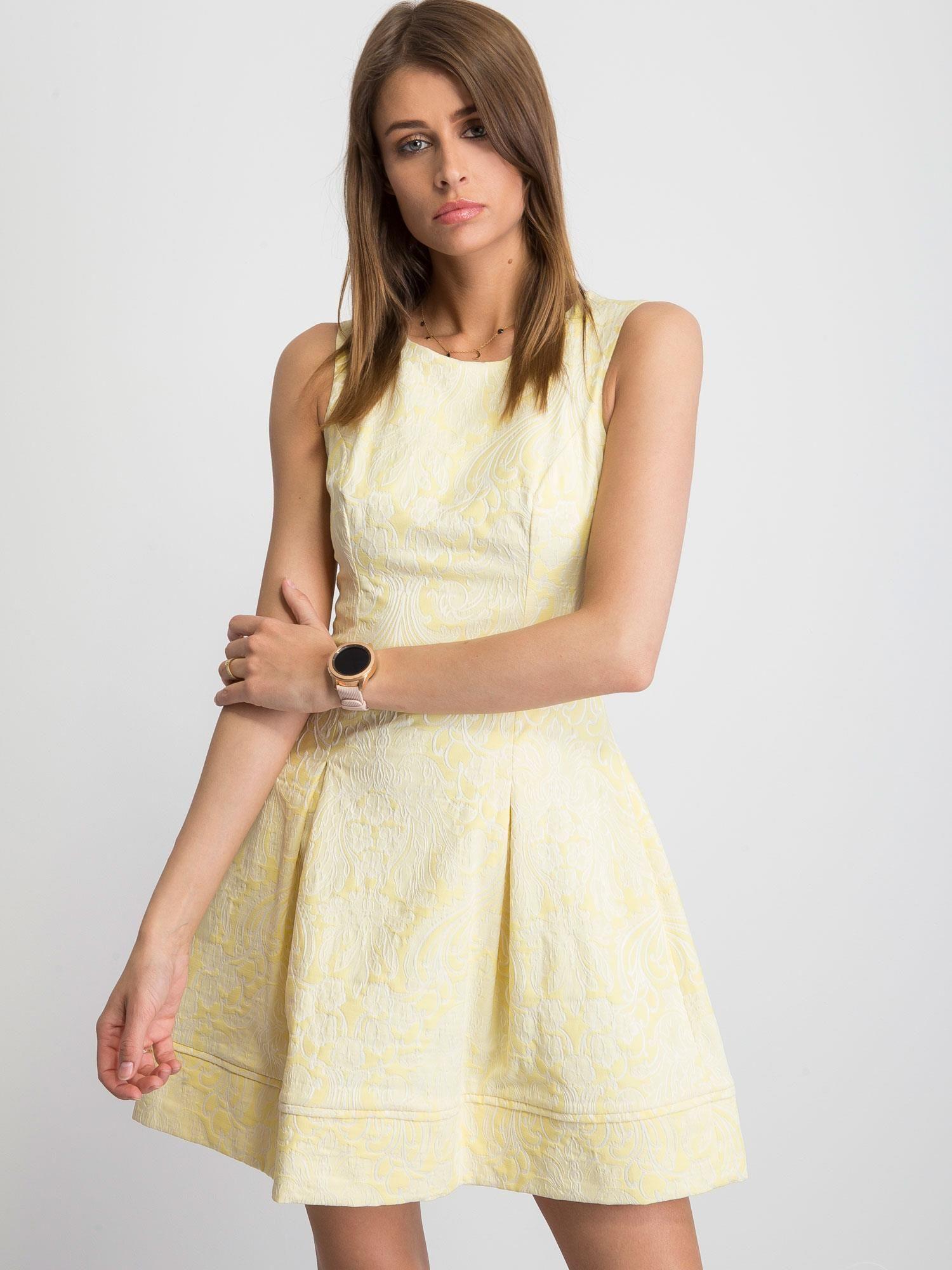 24d63d82f921b0 Żółta sukienka Babydoll - Sukienka rozkloszowana - sklep eButik.pl