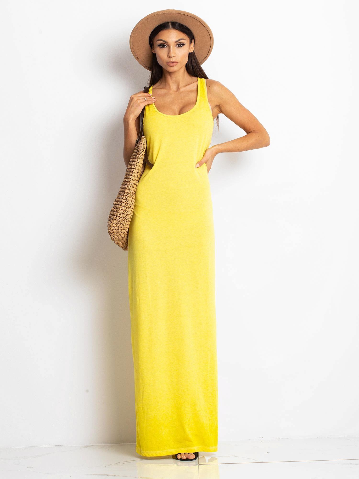 9b1e8366 Żółta sukienka Constant