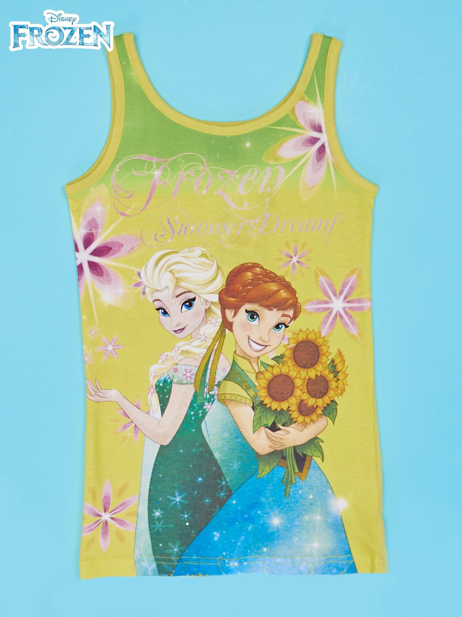 Żółta sukienka dla dziewczynki KRAINA LODU                                  zdj.                                  1