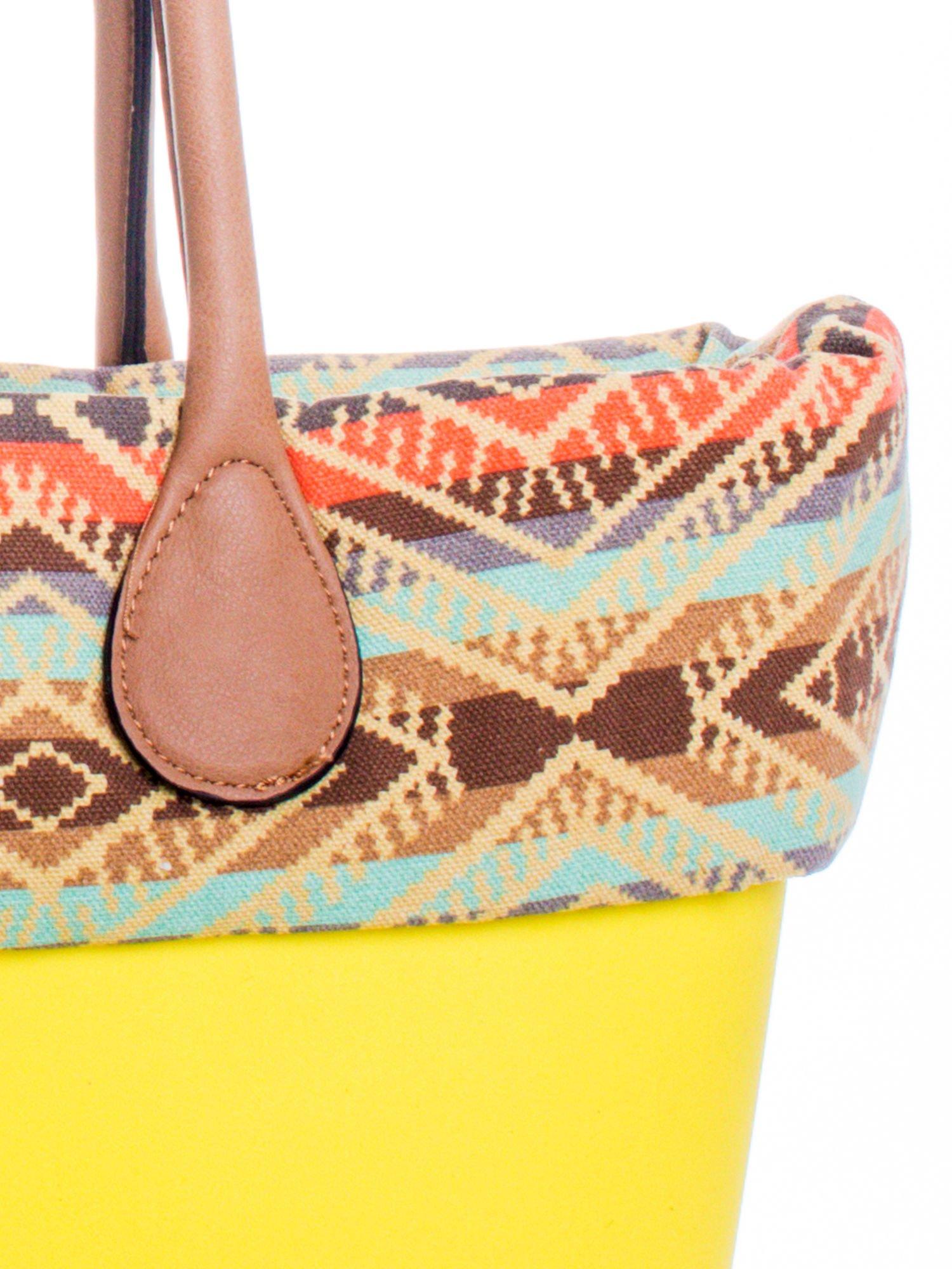 Żólta torba gumowa z motywem azteckim                                  zdj.                                  4