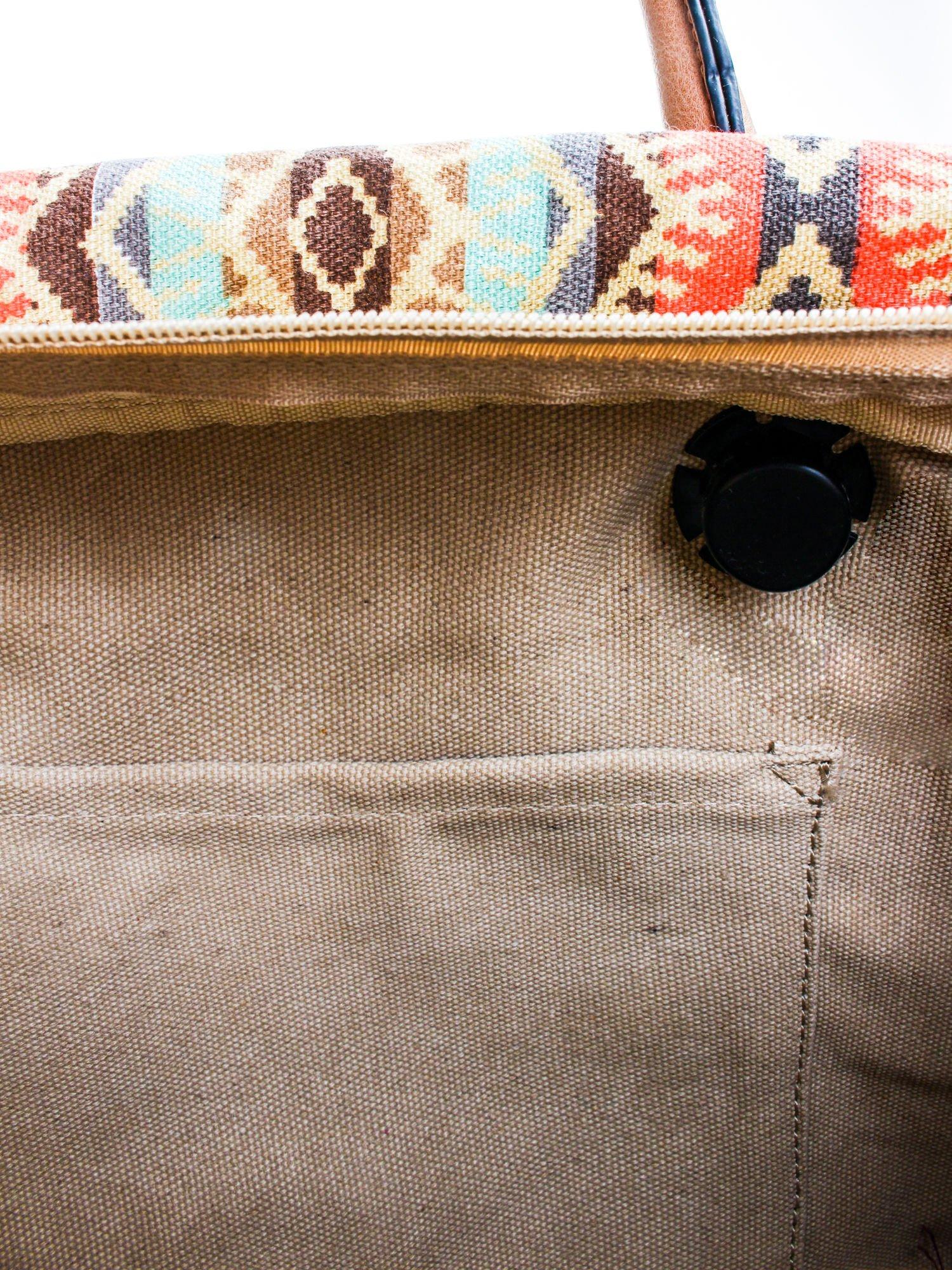 Żólta torba gumowa z motywem azteckim                                  zdj.                                  8