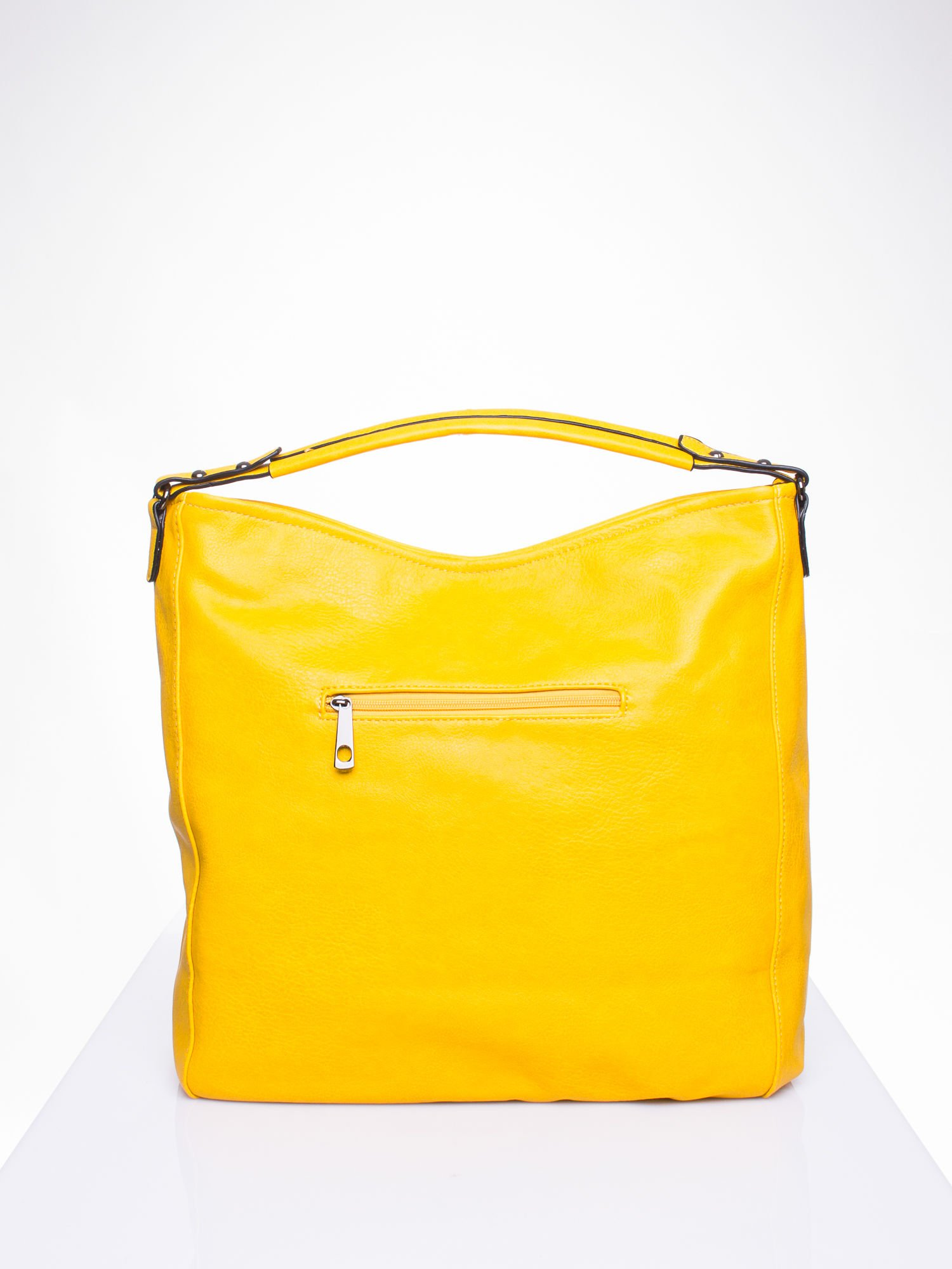 Żółta torba hobo z suwakami po bokach                                  zdj.                                  4