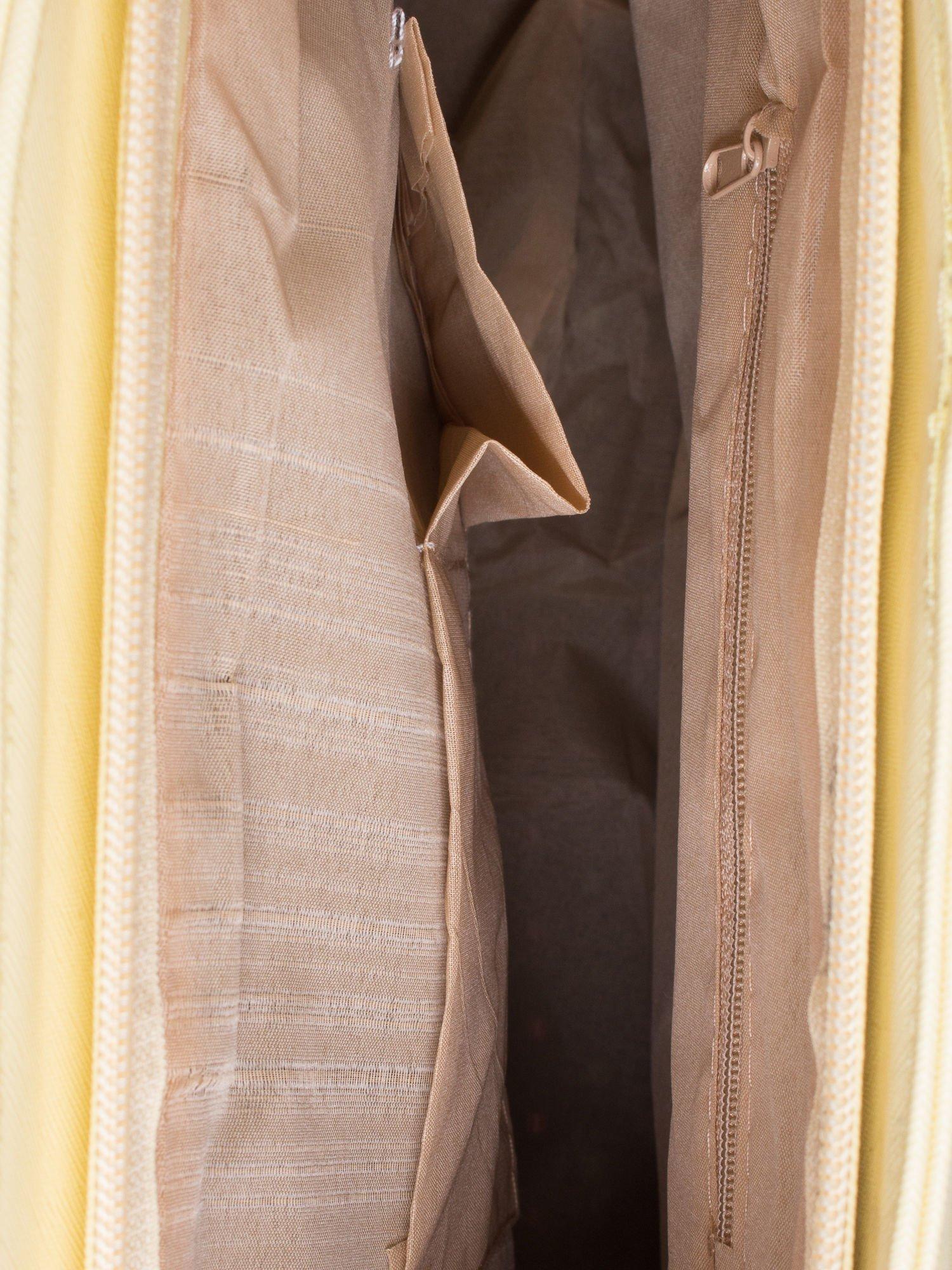 Żółta torba shopper bag z odpinanym paskiem                                  zdj.                                  4