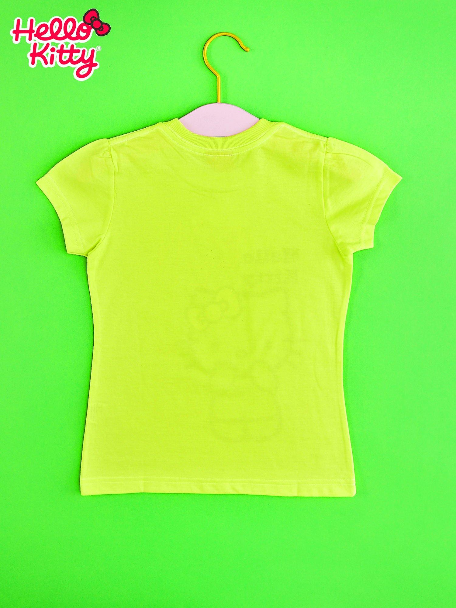 Żółty t-shirt dla dziewczynki HELLO KITTY z gwiadkami                                  zdj.                                  2
