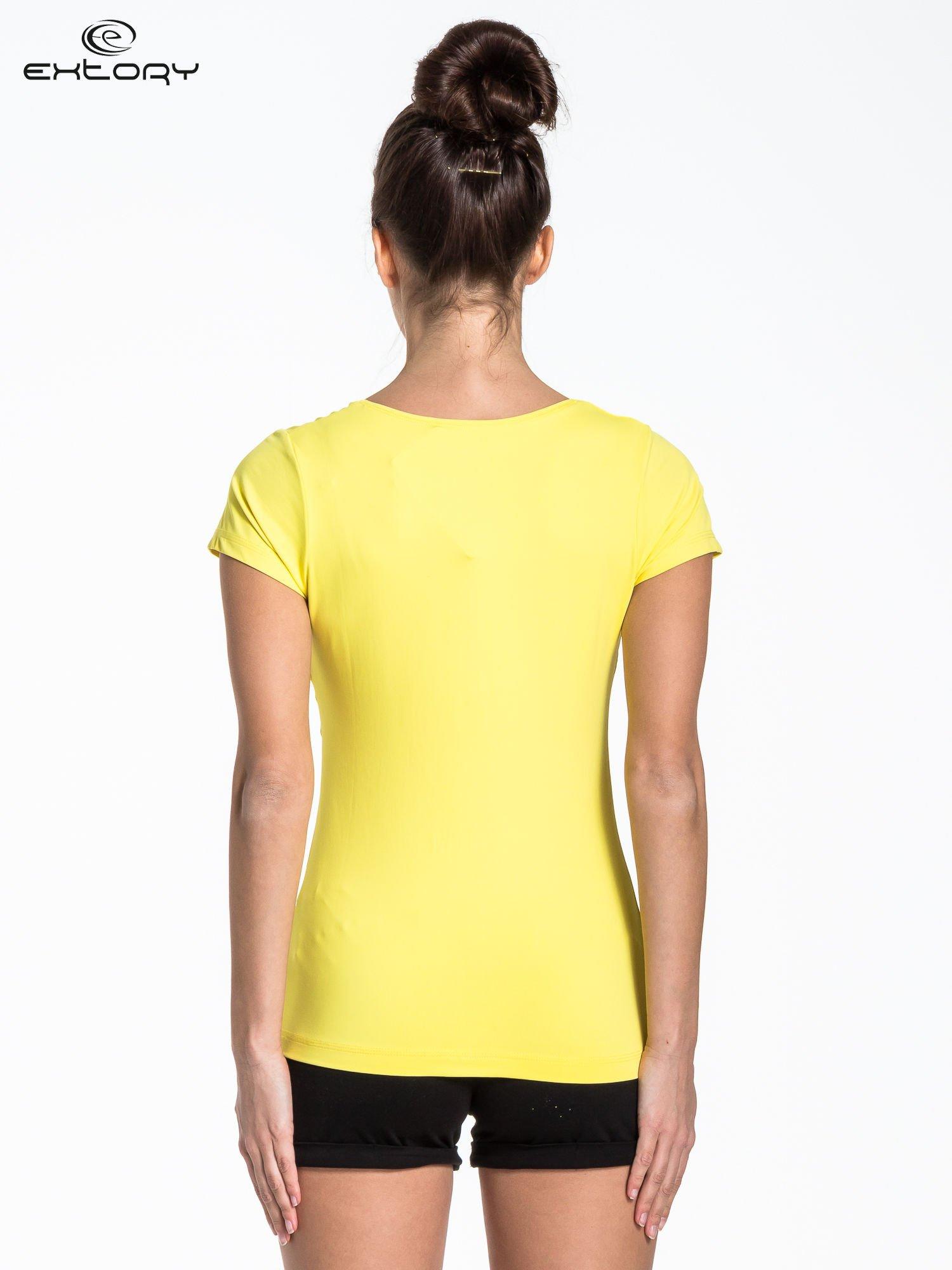 Żółty t-shirt sportowy basic                                  zdj.                                  2