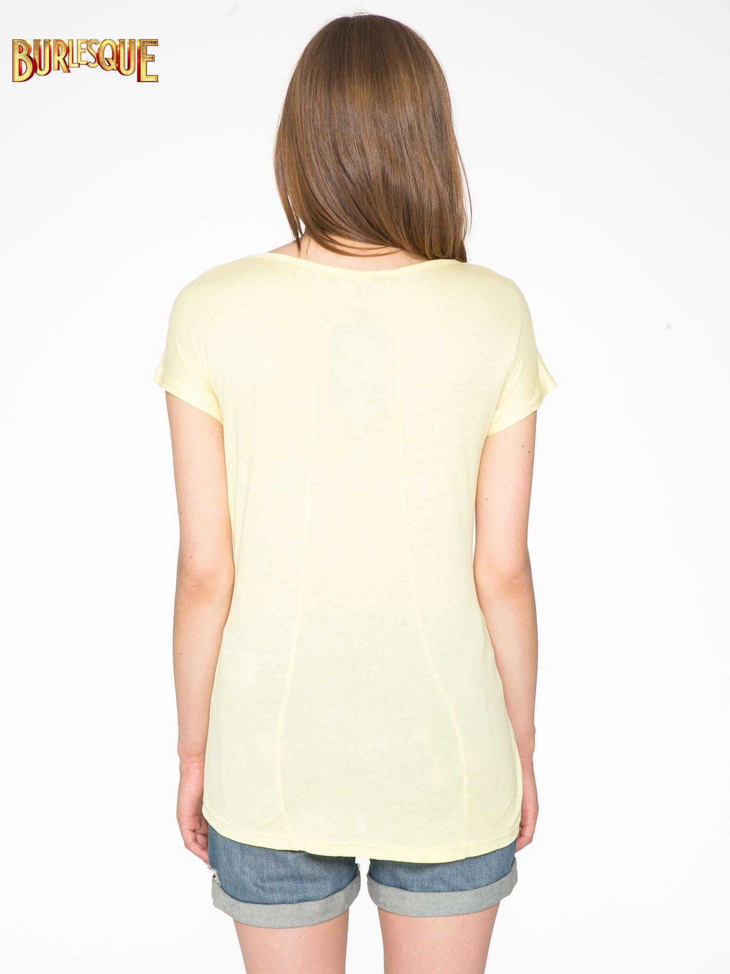 Żółty t-shirt z motywem Paryża                                  zdj.                                  4