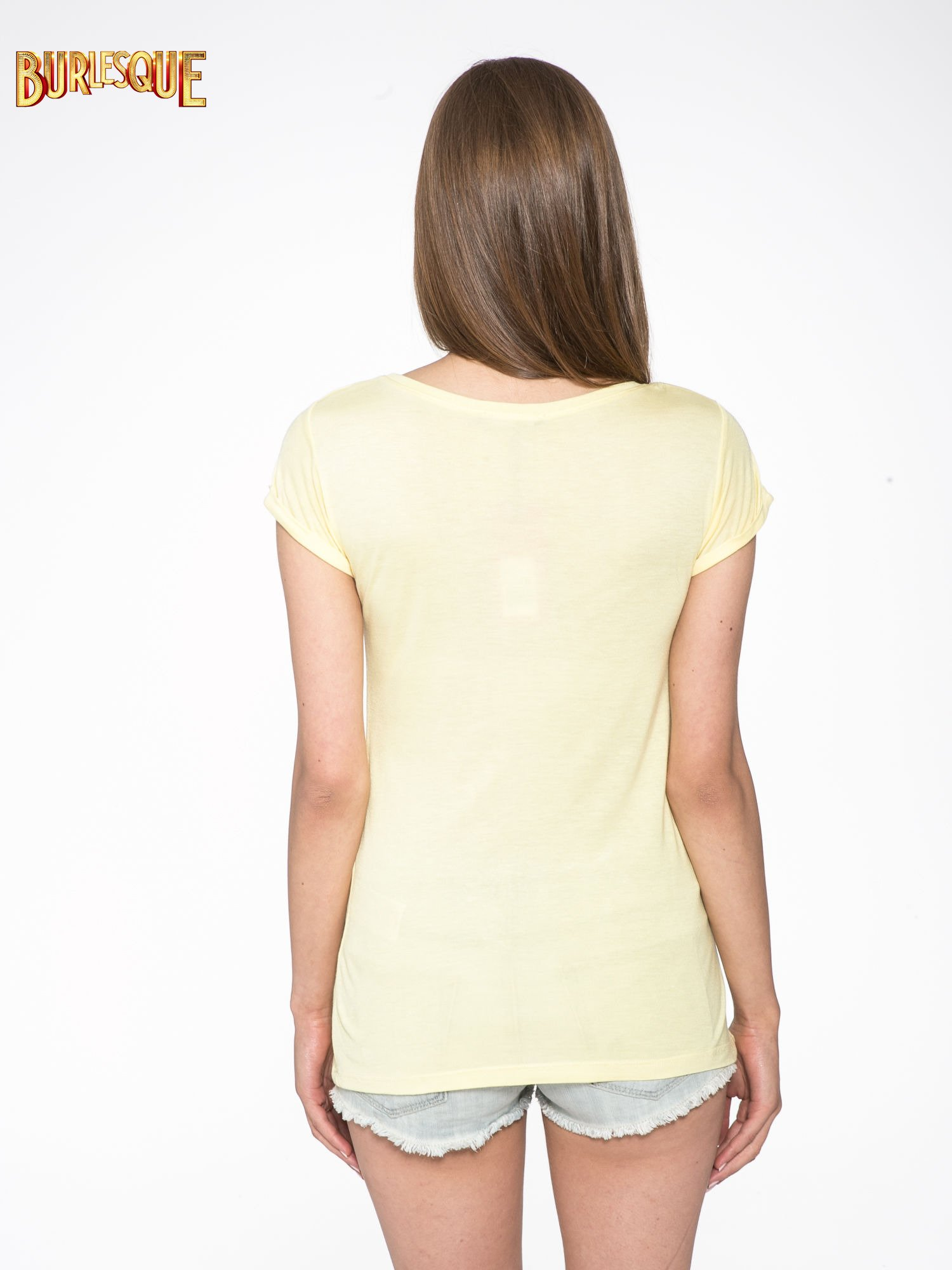 Żółty t-shirt z nadrukiem kota i napisem CATS RULE                                  zdj.                                  4