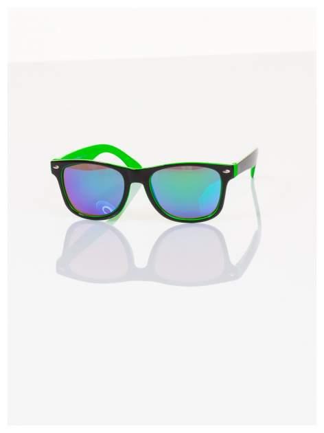 Dziecięce lustrzanki z filtrami UV-okulary z klasyczną oprawką WEYFARER NERD odporne na wyginania                                   zdj.                                  2