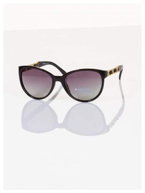 """2016 eleganckie okulary """"KOCIE OCZY w stylu Marlin Monroe""""ze złotymi zdobieniami POLARYZACJA+GRATISY                                  zdj.                                  2"""